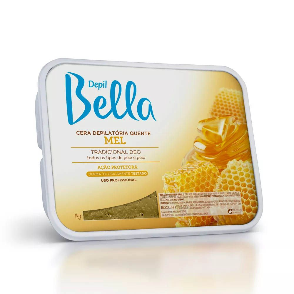 Depil Bella Cera Depilatoria Quente Mel - 01kg