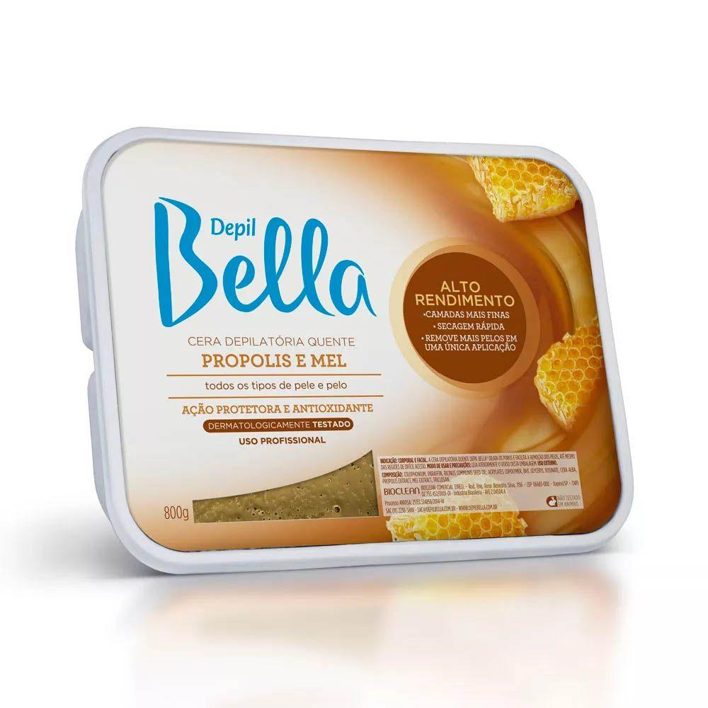 Depil Bella Cera Depilatoria Quente Mel E Propolis- 800g