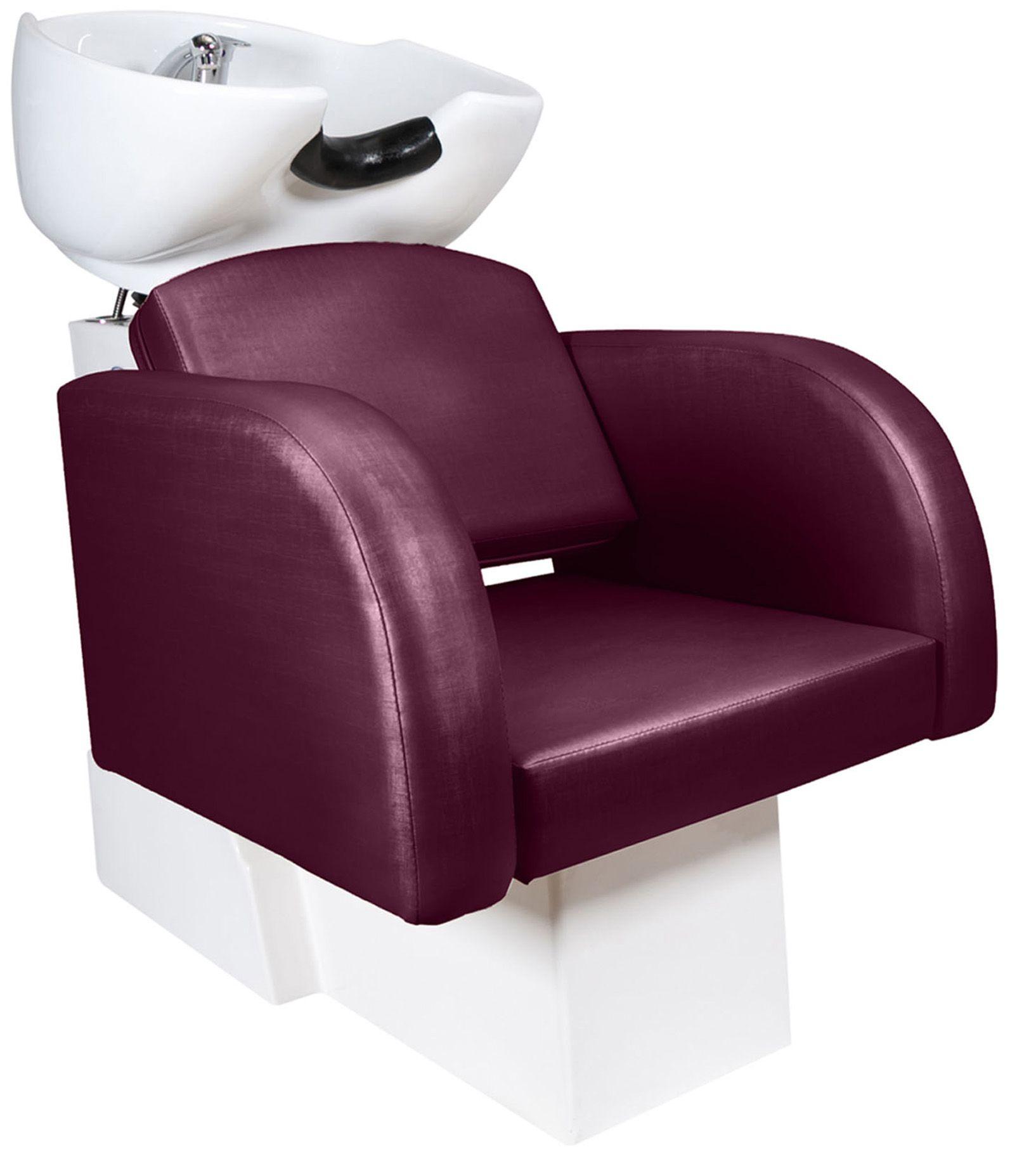 Destak Bordo - Lavatorio + Cadeira Hidráulica Fixa