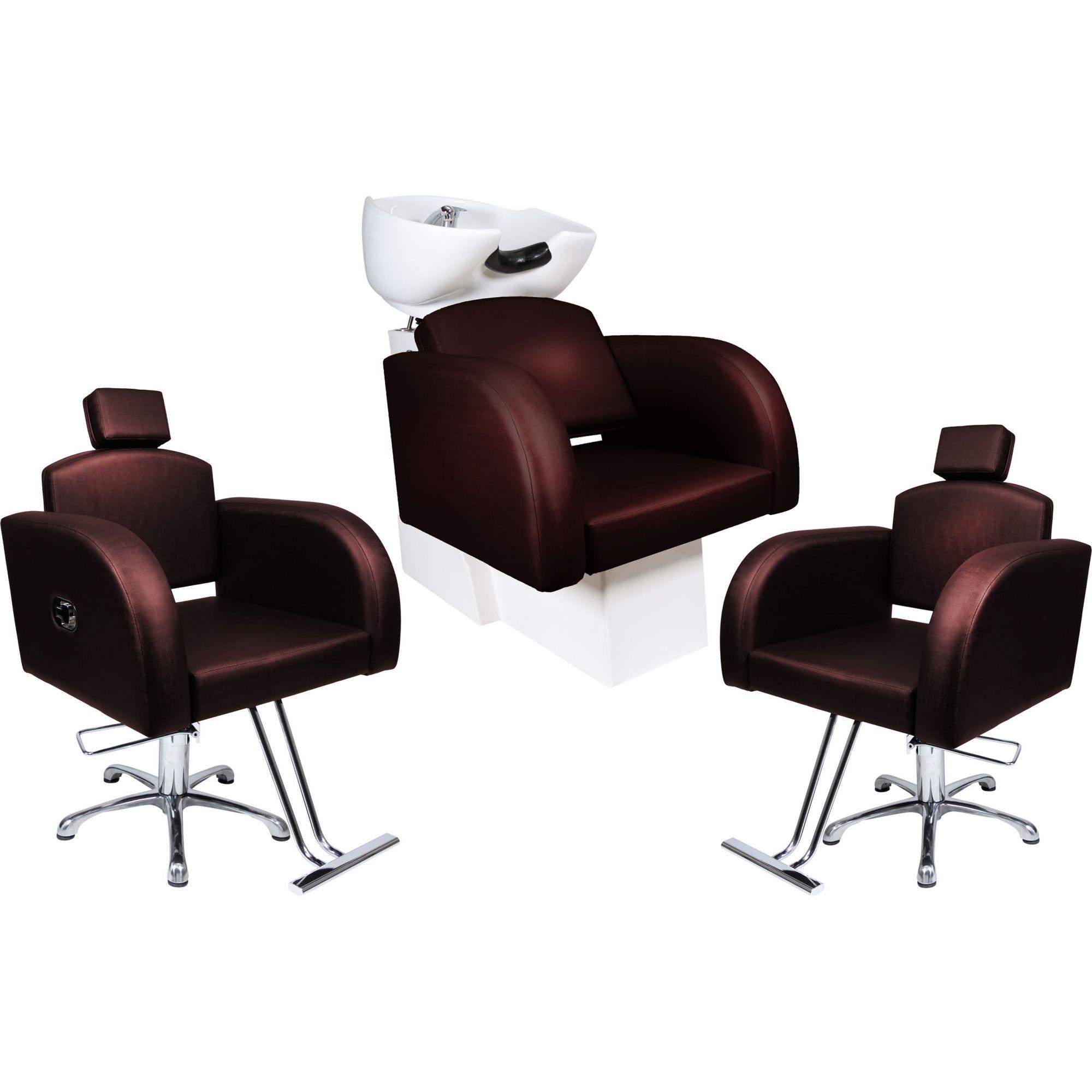 Destak Café - Lavatorio + 2 Cadeiras Reclináveis