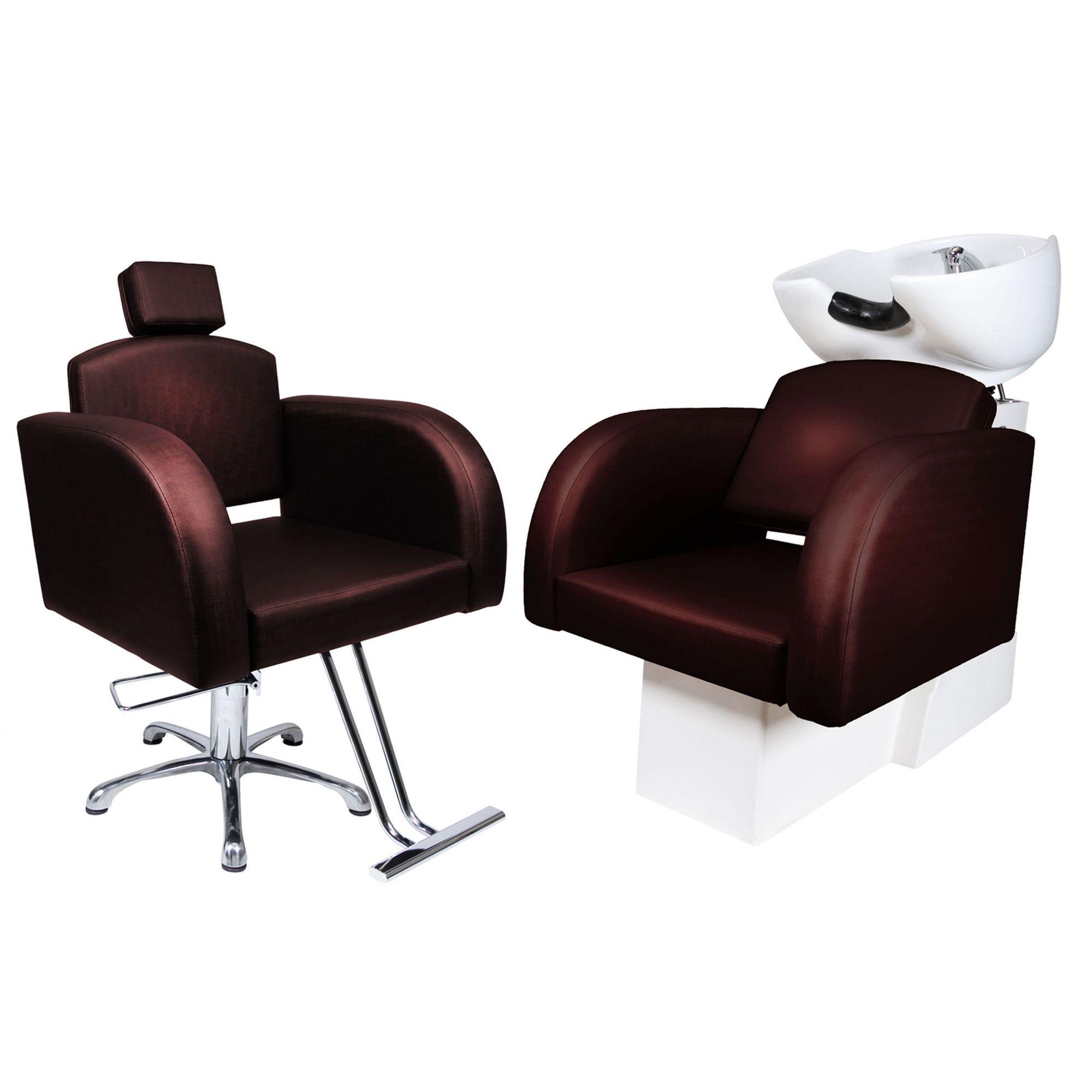 Destak Café - Lavatorio + Cadeira Hidráulica Fixa