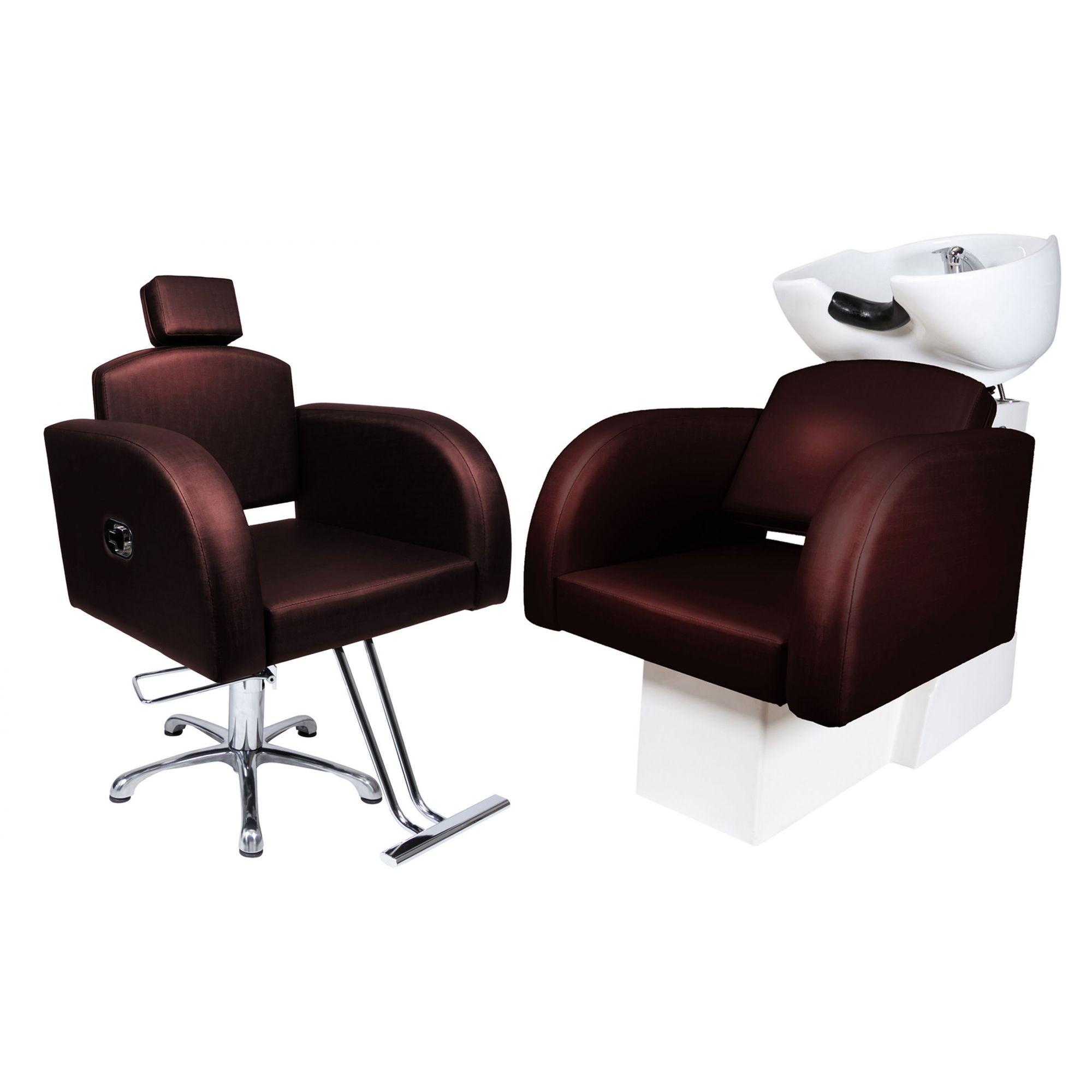 Destak Café - Lavatorio + Cadeira Hidráulica Reclinável