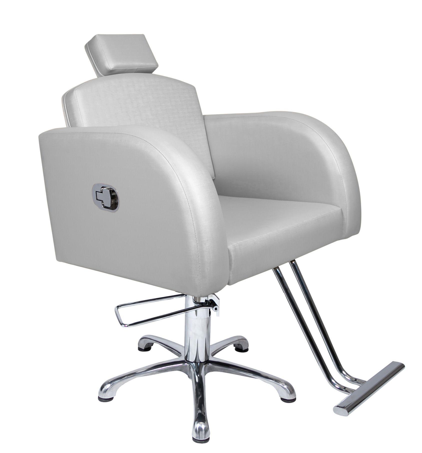 Destak Prata - Lavatorio + Cadeira Hidráulica Reclinável