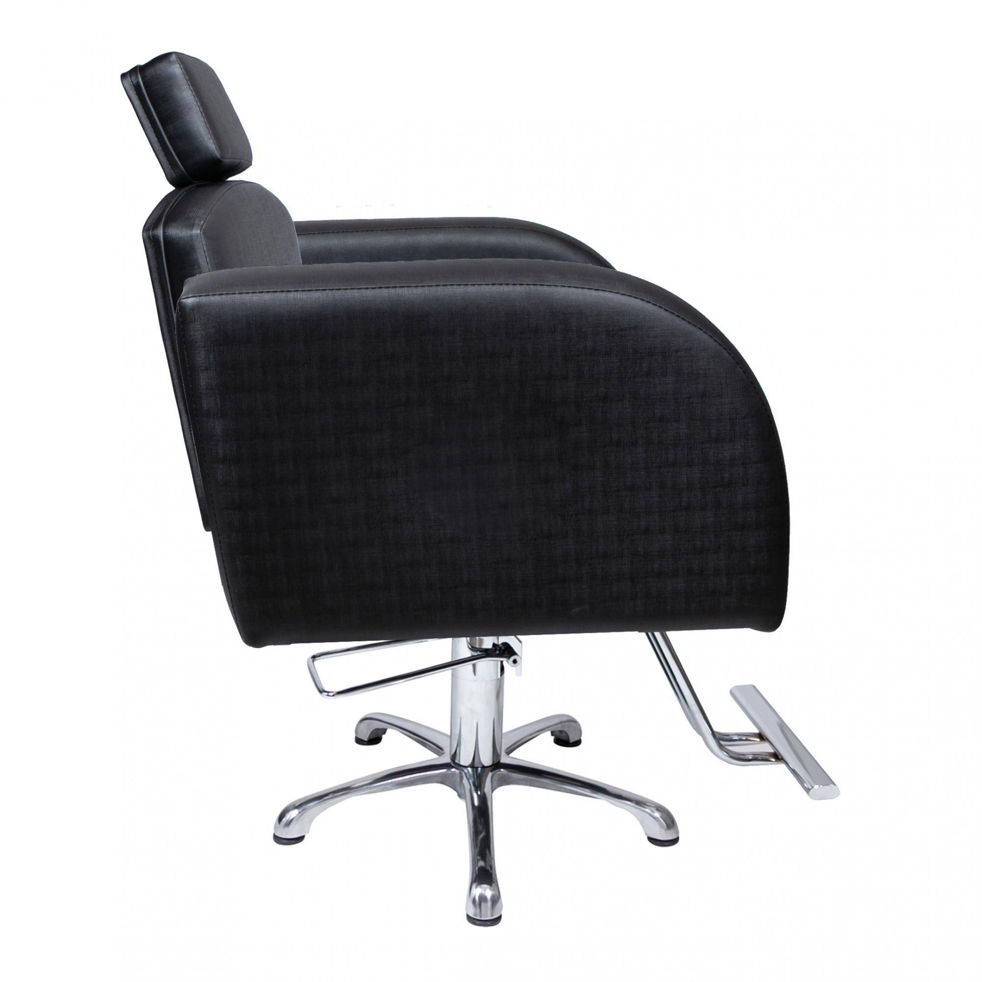 Destak Preto - Lavatorio + 2 Cadeiras Fixas