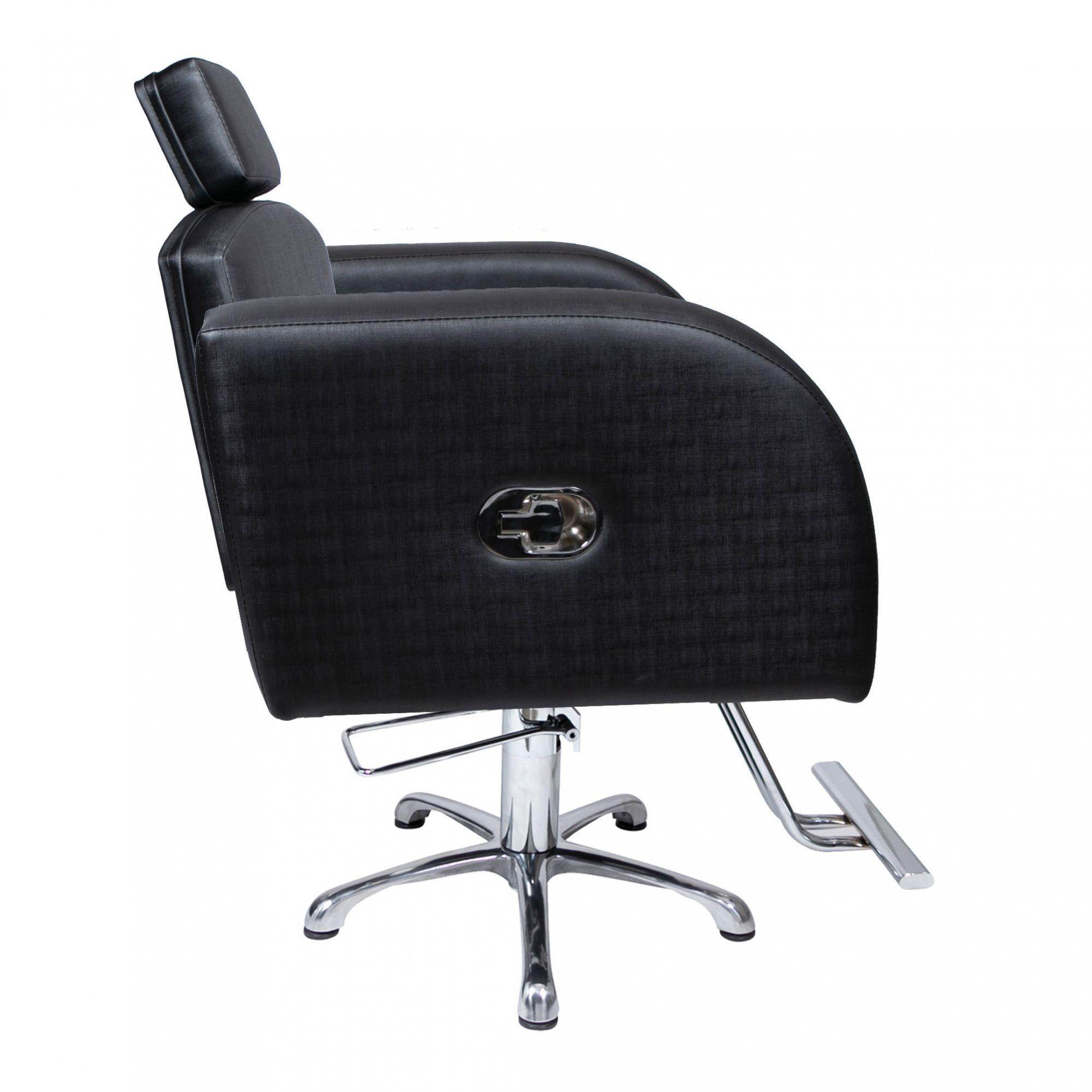 Destak Preto - Lavatorio + Cadeira Reclinável + Cadeira Fixa