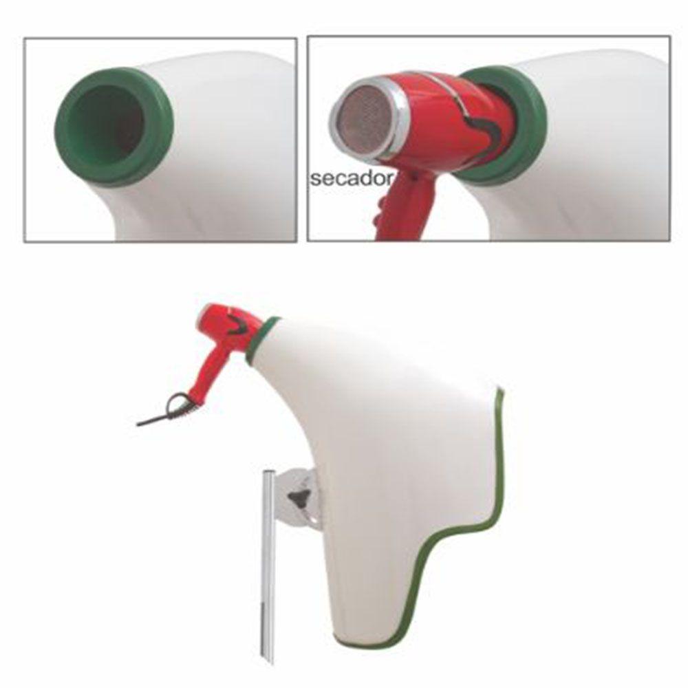 Difusor Secador Portátil Deva Air 360 Aries Verde e Branco