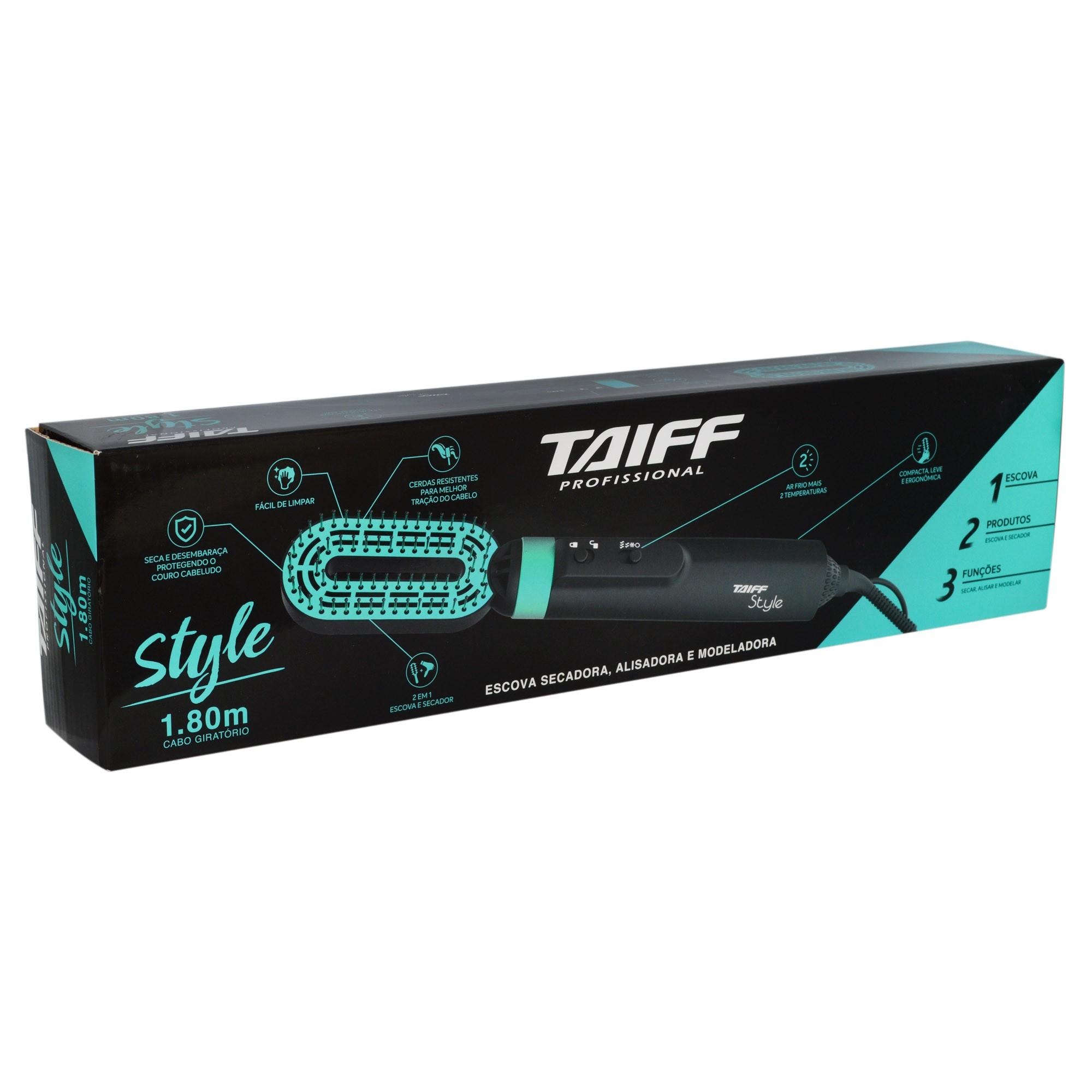 Escova Secadora Alisadora Modeladora Style 900w - Taiff