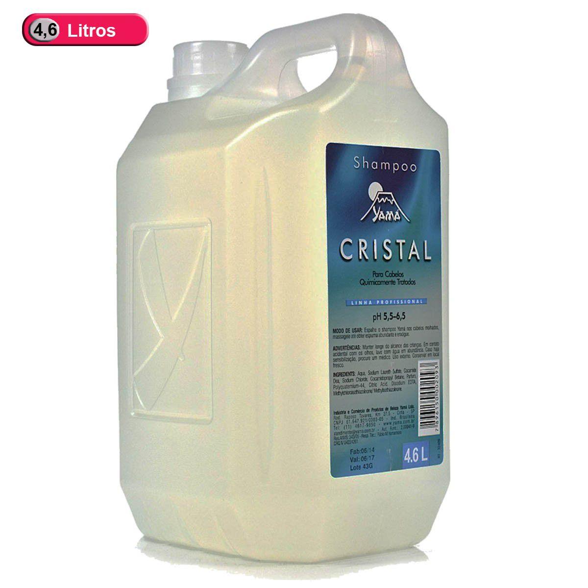 Galão Shampoo Cristal 4,6l Yamá Profissional