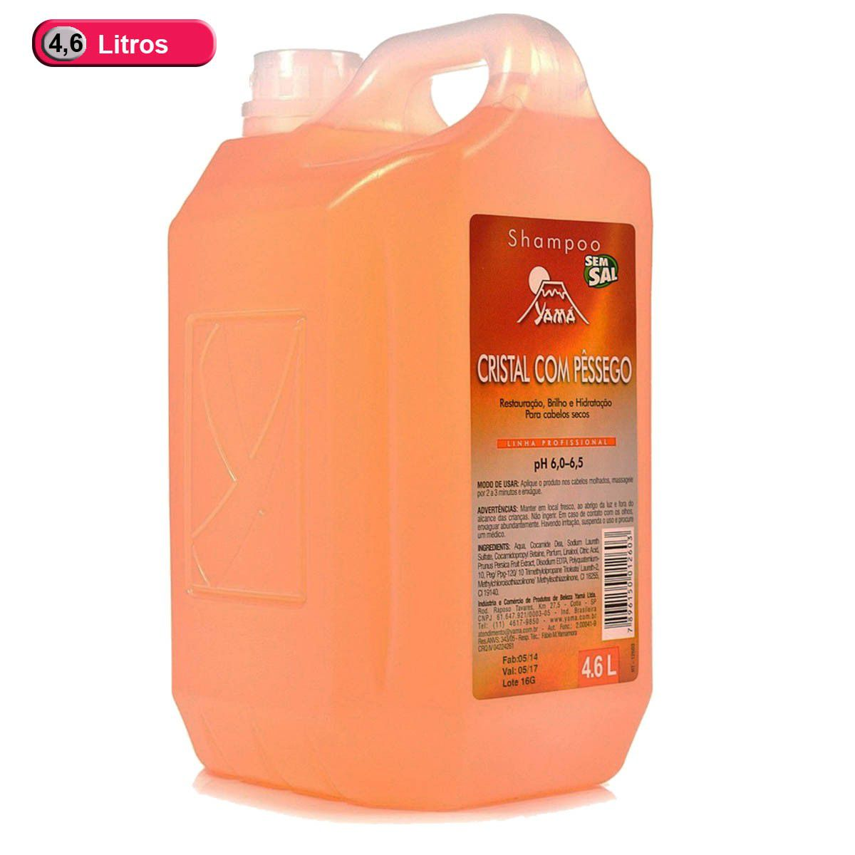 Galão Shampoo De Pêssego 4,6l Yamá Profissional
