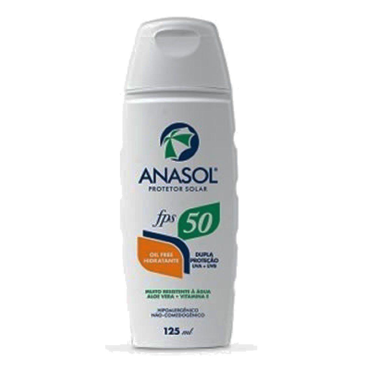 Kit 3 Und Protetor Solar Anasol Fps 50 Oil Free Hipoalergênico 200 ml