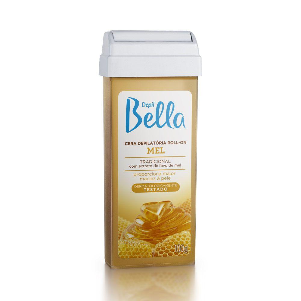 Kit 48 Refil Cera Depilatória Roll-On Mel Depil Bella