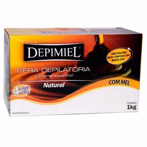 Kit 6 Caixas Cera Depilação Depimiel Natural Sistema Espanhol 1 Kg Cada