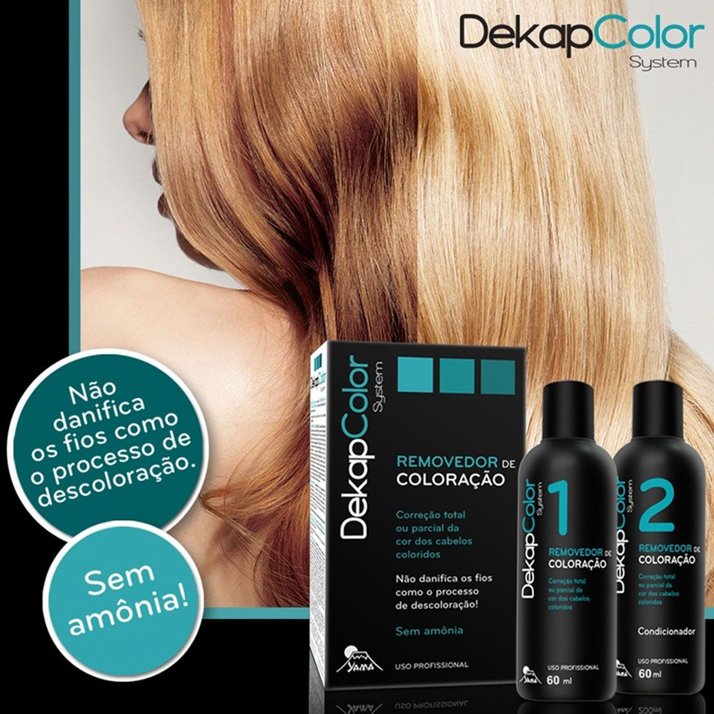 Kit 6 Und Dekap Color System Yamá 400ml Removedor Coloração