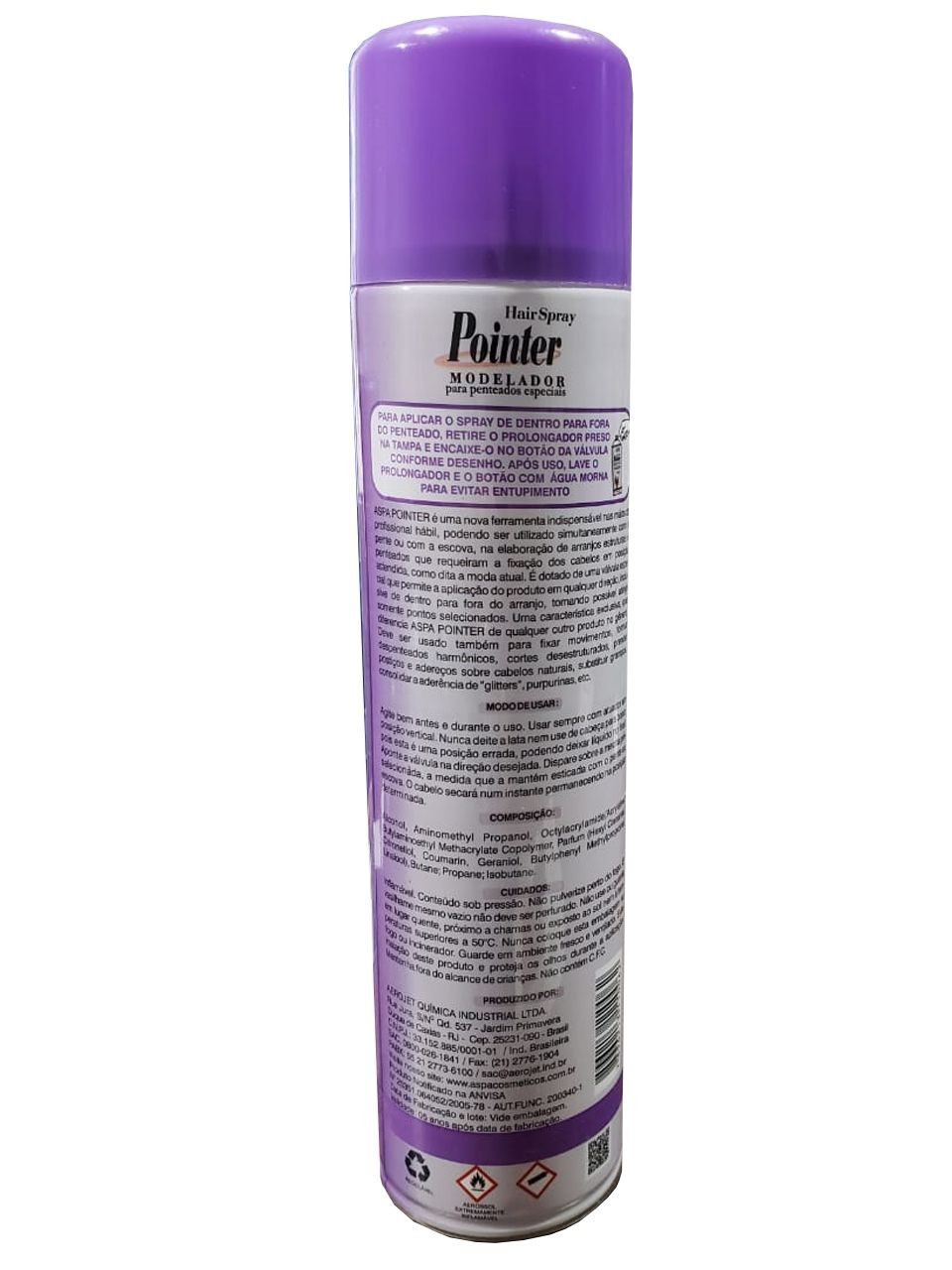 Kit 6 Und Spray Aspa Pointer Modelador De Penteados 300ml