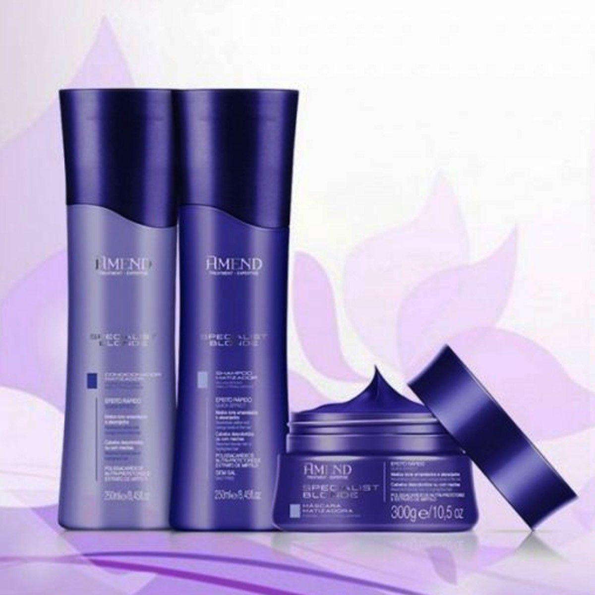 Kit Amend Shampoo 250g + Condicionador250g + Máscara 300g Matizador Specialist Blonde