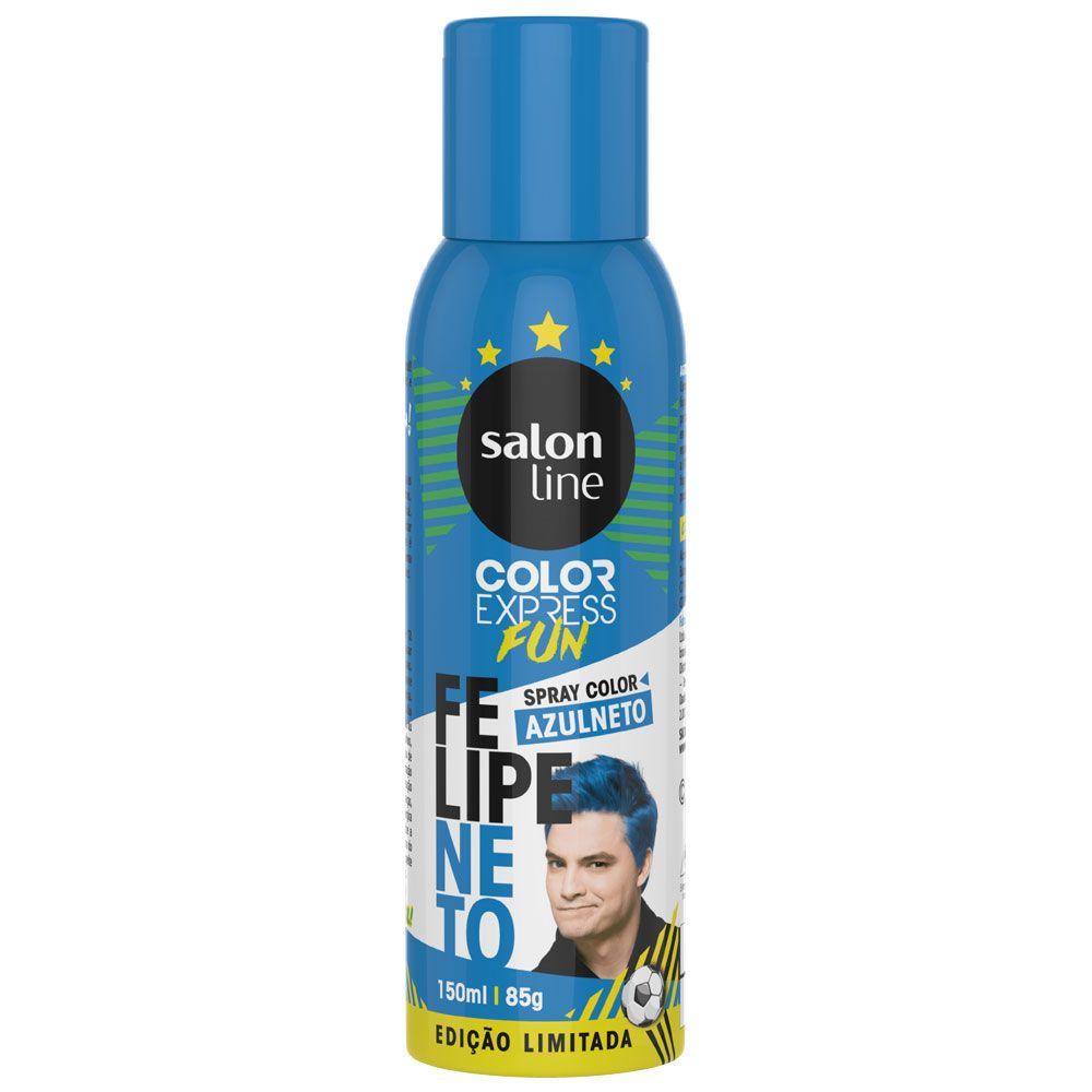 Kit Brasil (Copa do Mundo) - 3 Color Express Fun Spray Color Felipe Neto - Salon Line