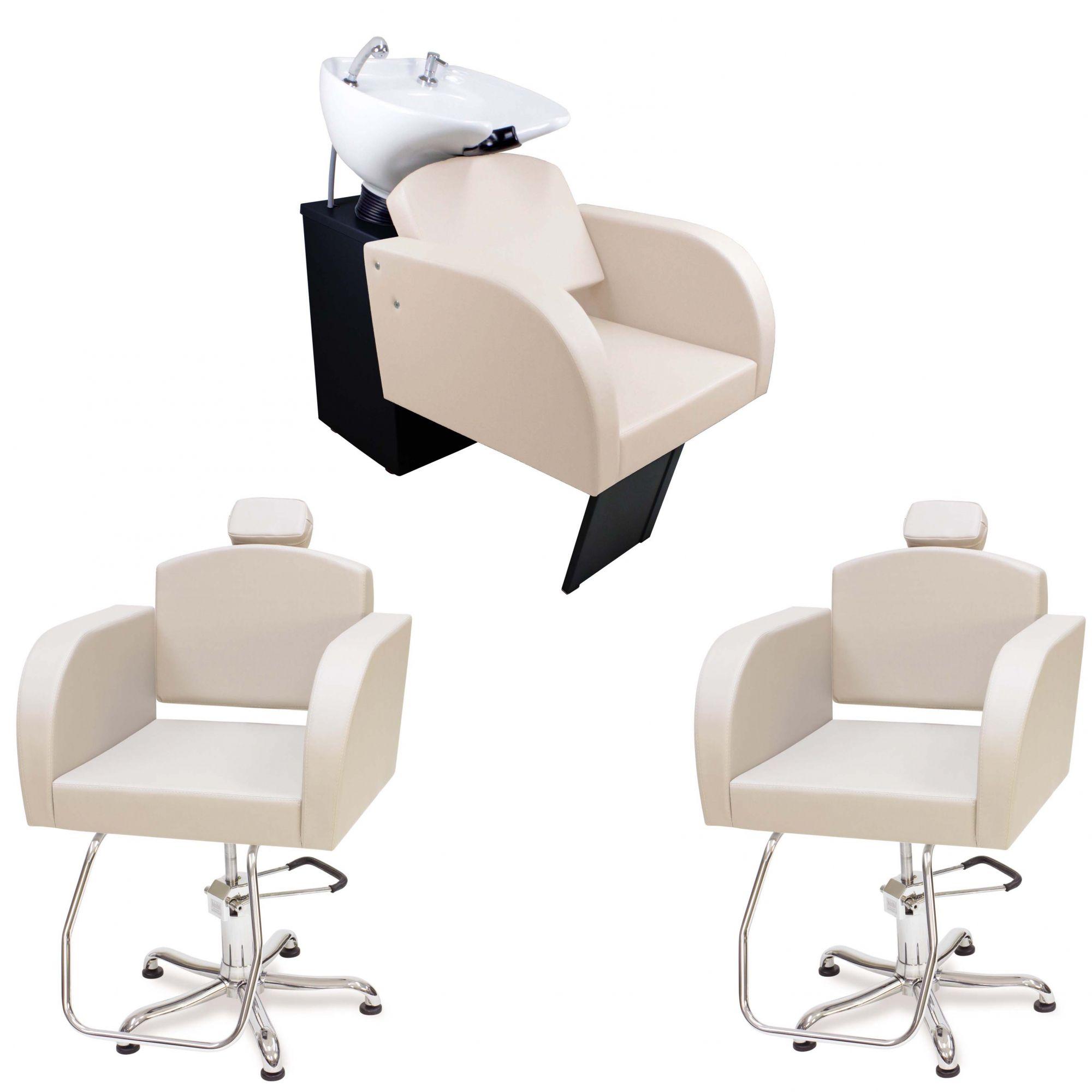 Kit Cadeira fixa Capri+ Cadeira fixa Capri+ Lavatório Capri