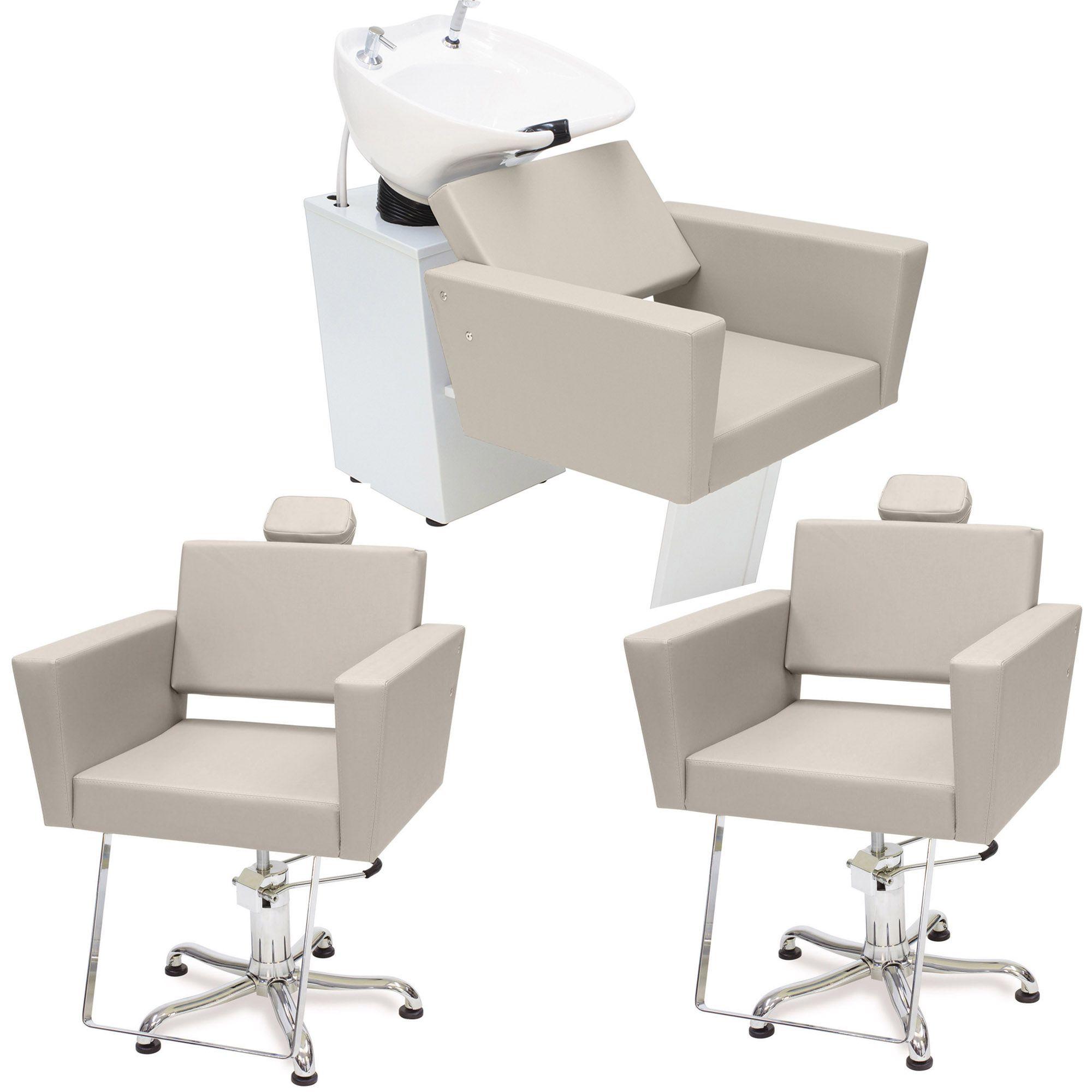Kit cadeira fixa niagara + cadeira fixa niagara + lavatório niagara