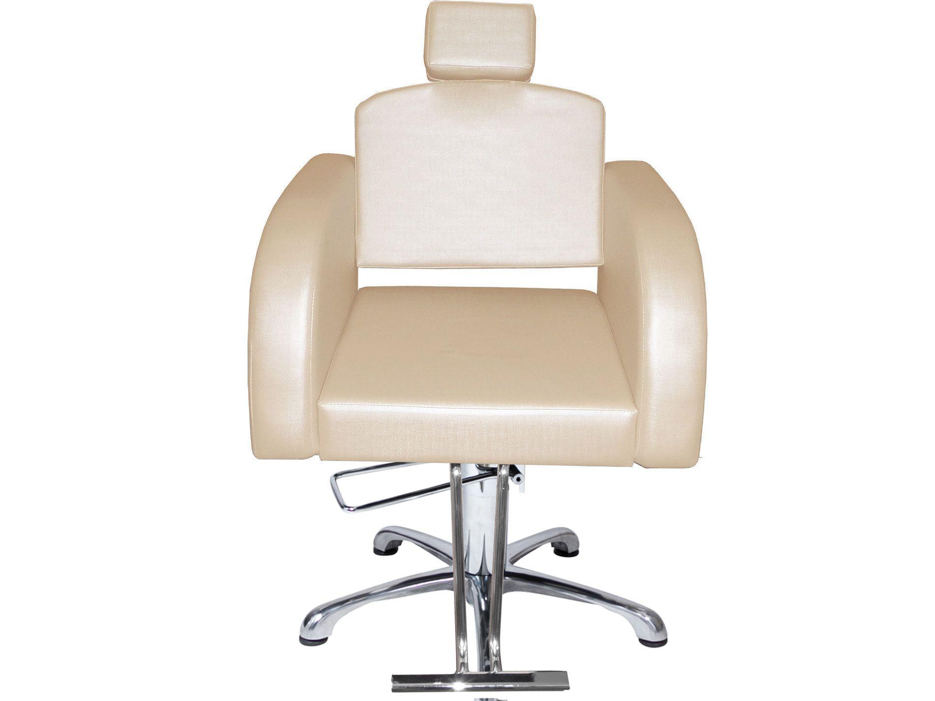 Destak Bege - Cadeira Reclinável + Cadeira Fixa + Lavatório