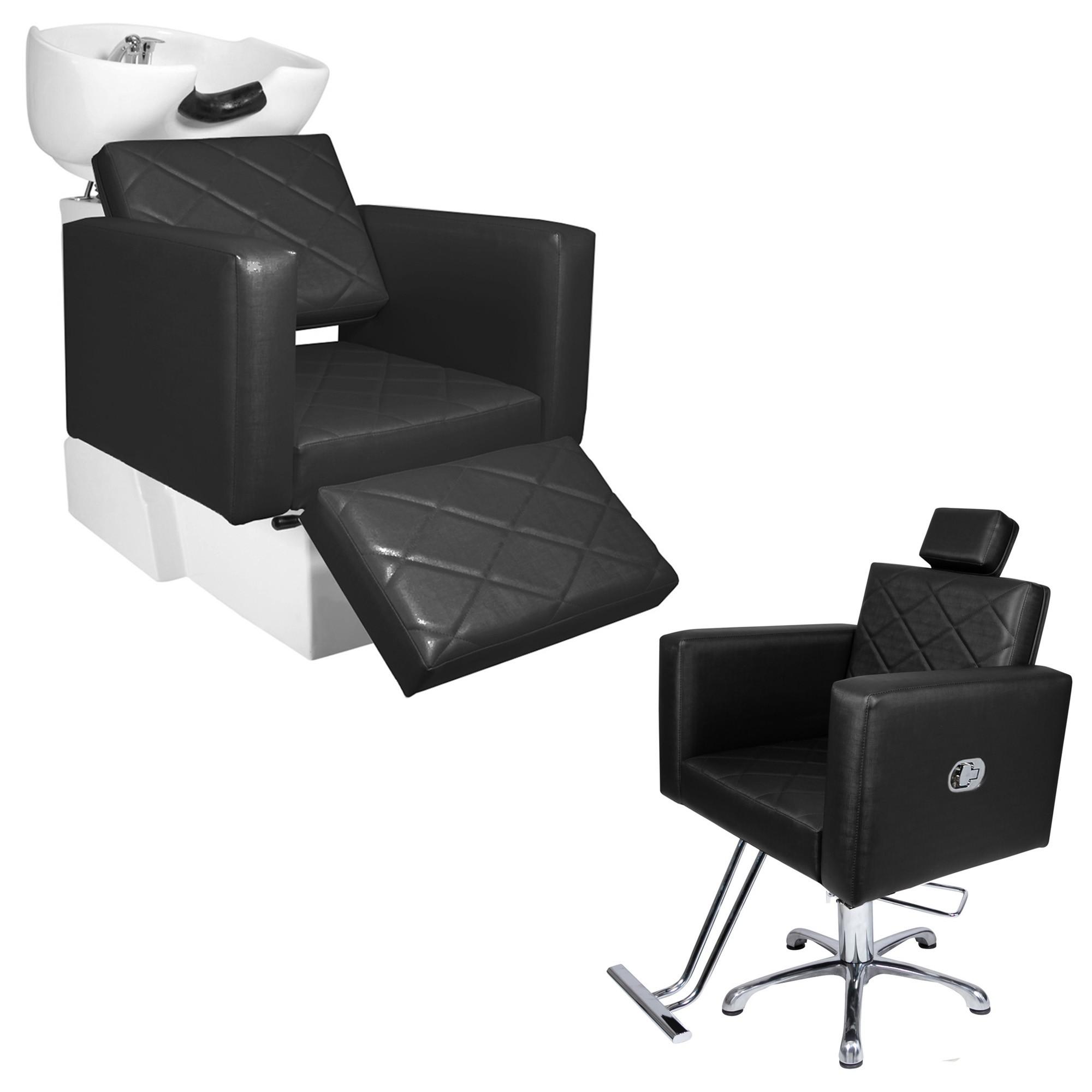 KIT Evidence 1 Cadeira Reclinável + 1 Lavatório Com Descanso de Pé