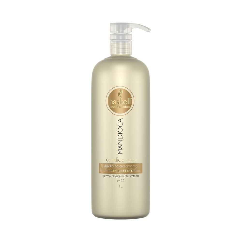 Kit Haskell Mandioca Shampoo 1 litro + Condicionador 1 litro + Máscara Hidratação 1 kg
