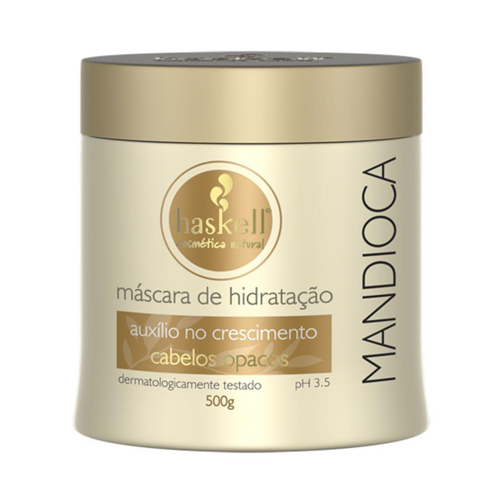 Kit Haskell Mandioca Shampoo 1 litro + Máscara Hidratação 500g