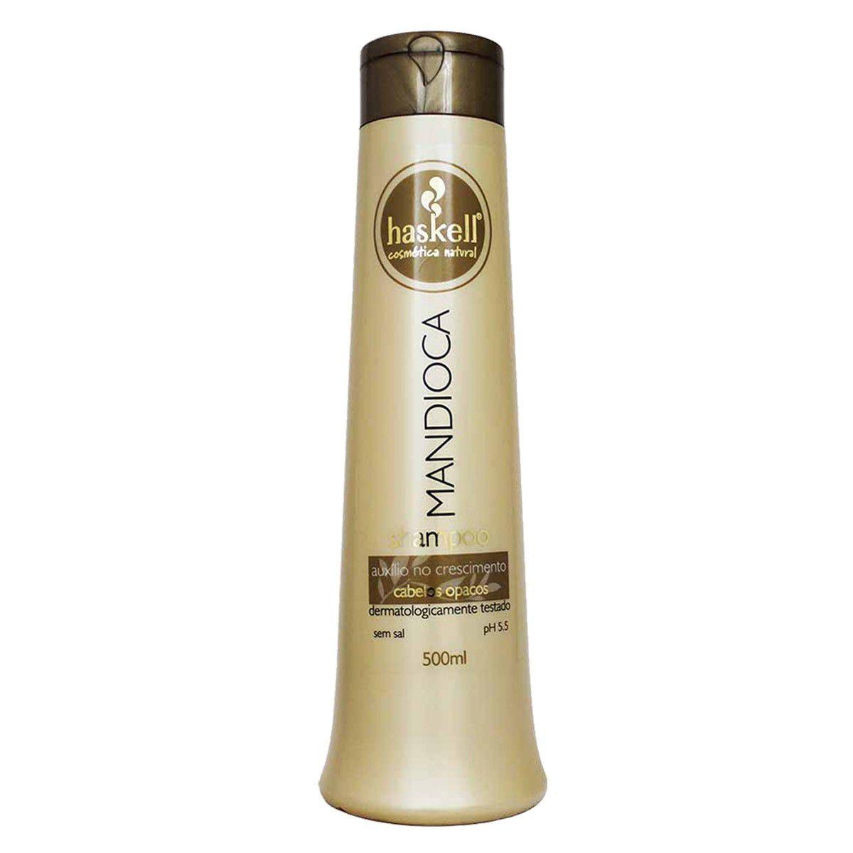 Kit Haskell Mandioca Shampoo 500 ml + Condicionador 500ml + Mascara 500gr
