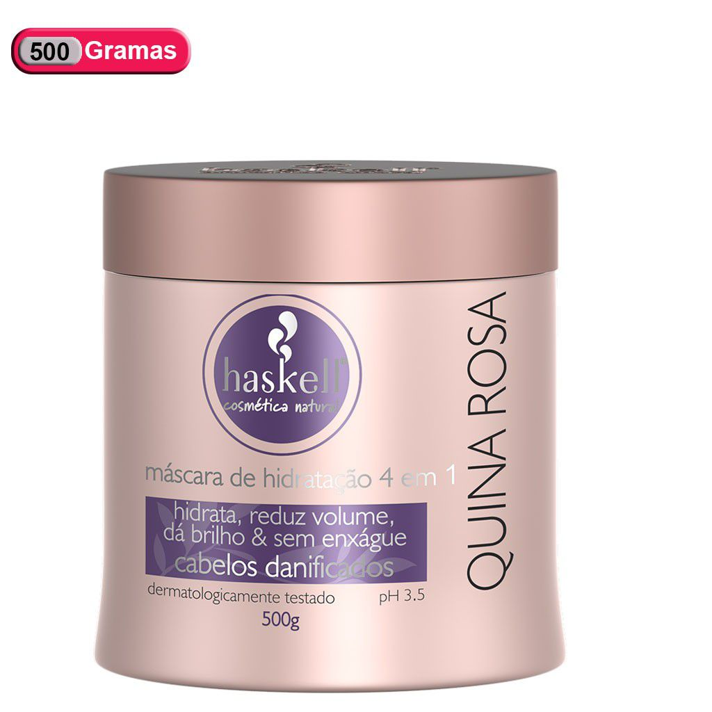 Kit Haskell Quina Rosa Shampoo+cond+Mascara 500ml