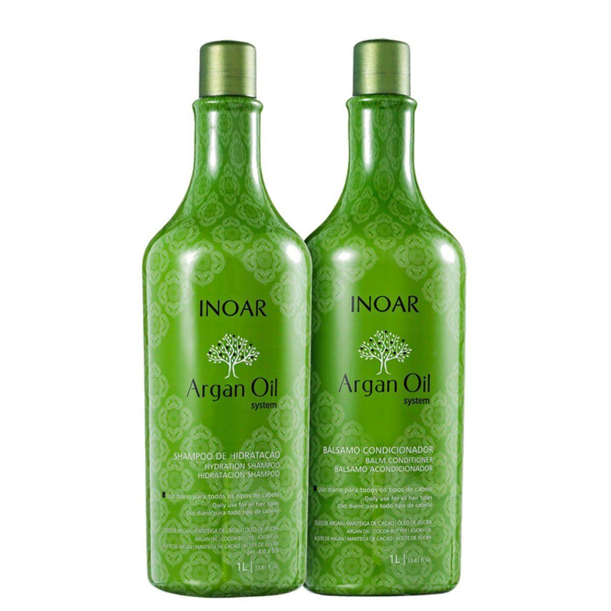 Kit Inoar Argan Oil - Shampoo + Condicionador + Máscara
