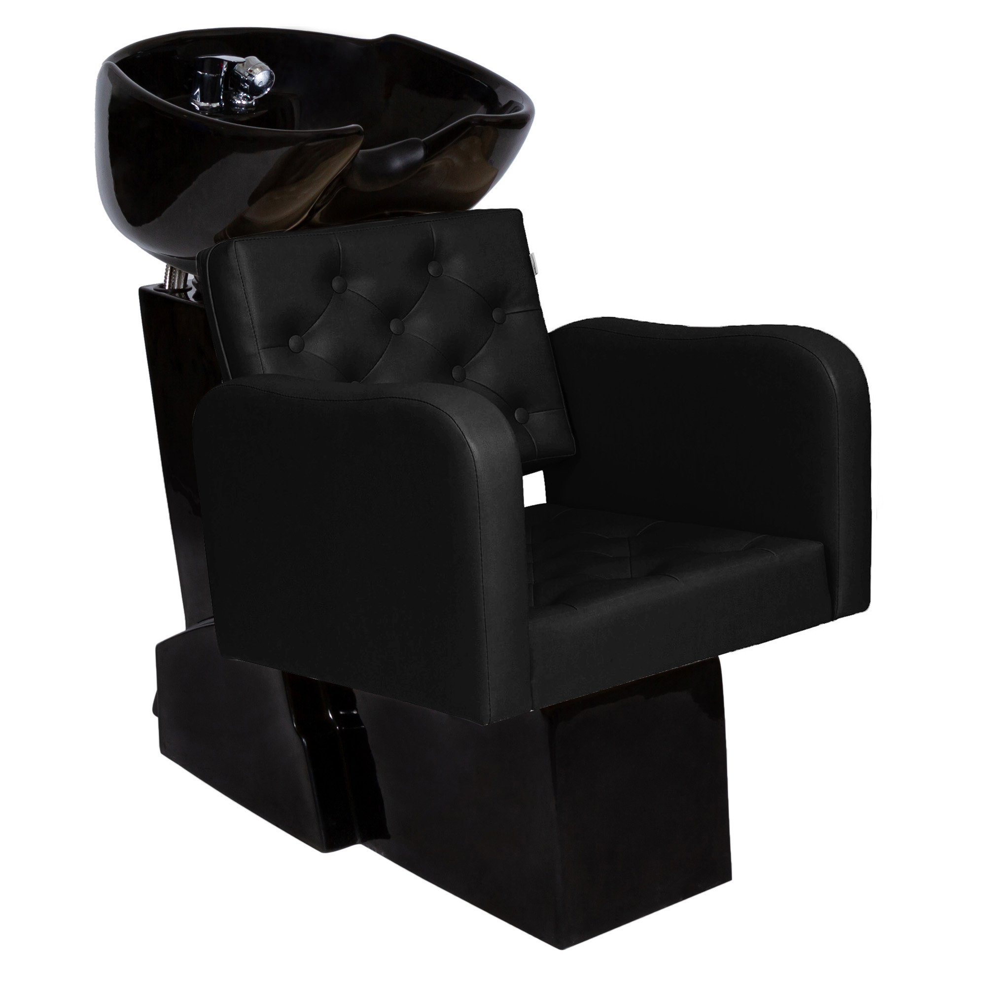 Kit Lavatório Base Preta + Cadeira Poltrona Reclinável Tokyo