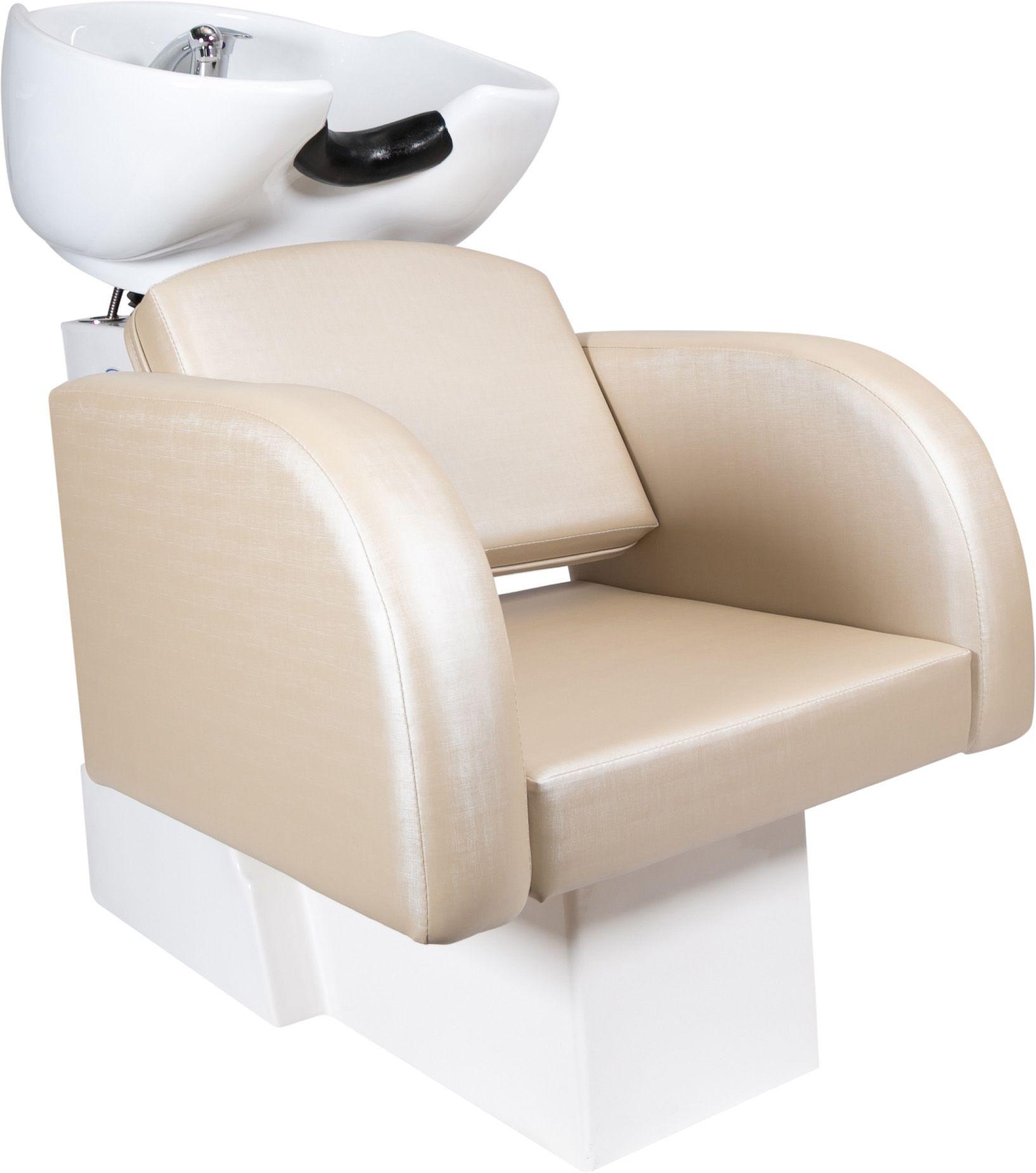 Destak Bege - 1 Lavatório Destak e 2 Cadeiras Hidráulicas / Fixas