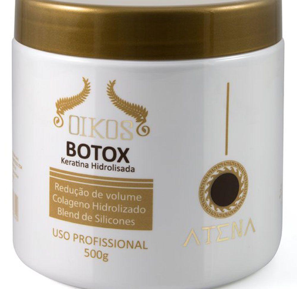 Kit Selante Térmico Oikos Atena 500ml Profissional + Oikos Botox 500gr Keratina Hidrolisada Profissional