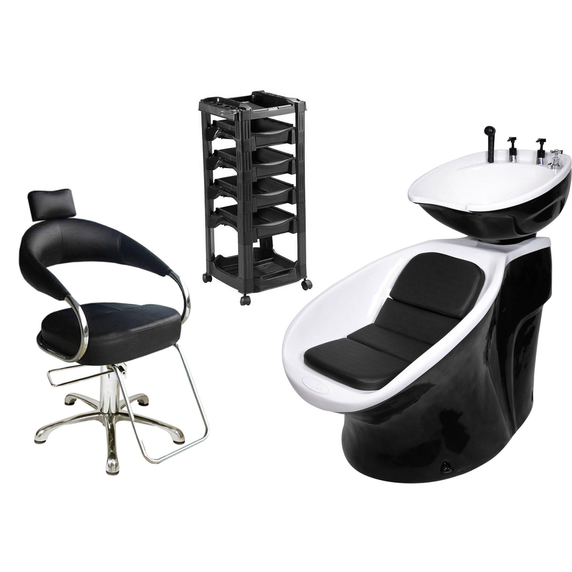 Lavatório Neon Retro + Cadeira Hidráulica Futurama + Vegas