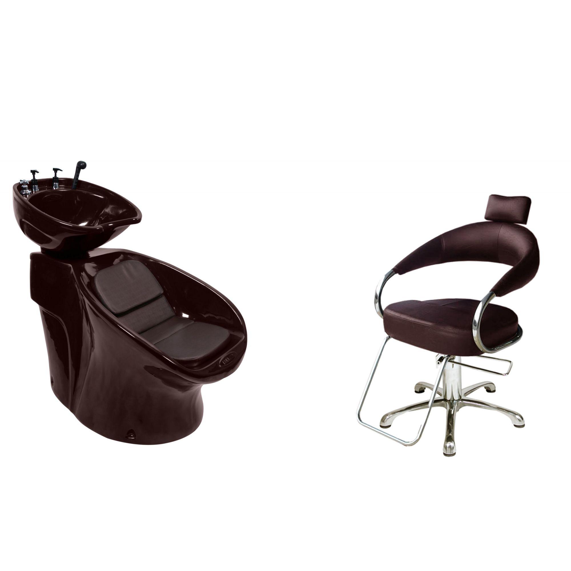 Lavatório Neon Shampoo + Cadeira Hidráulica Futurama