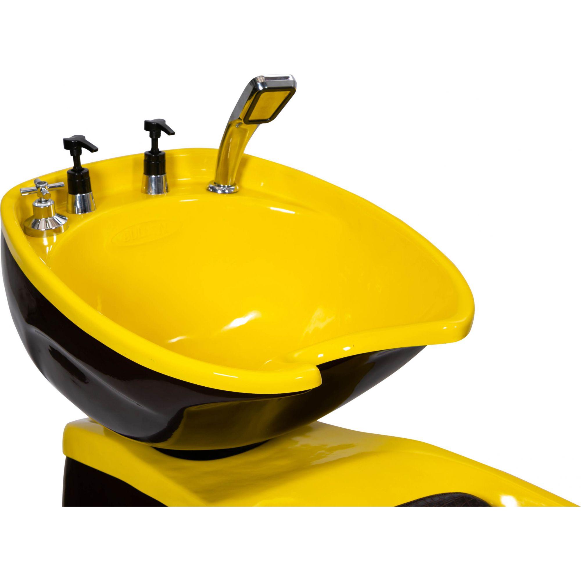 Lavatório Neon Shampoo Retro - Preto e Amarelo