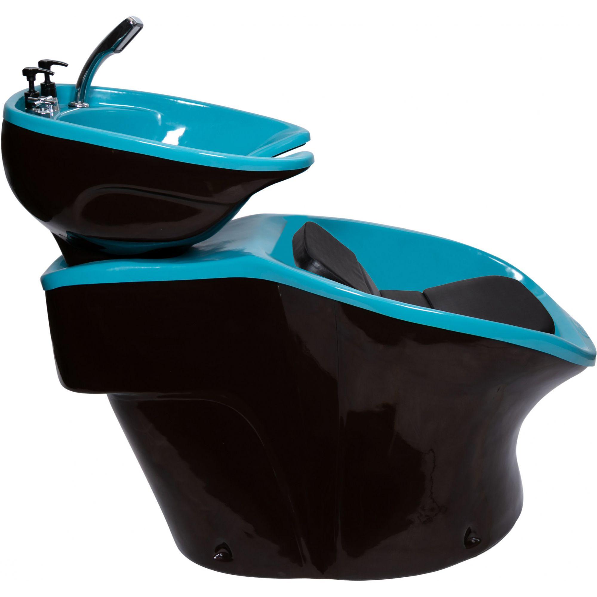 Lavatório Neon Shampoo Retro - Preto e Azul