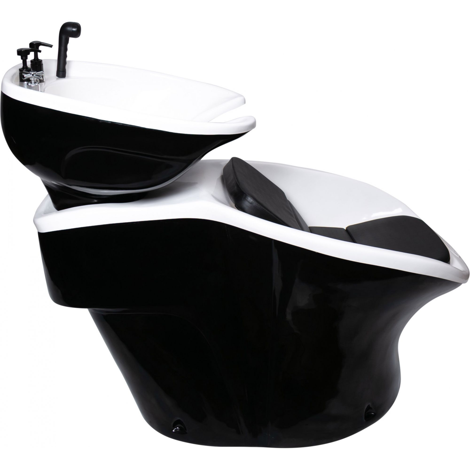 Lavatório Neon Shampoo Retro - Preto e Branco