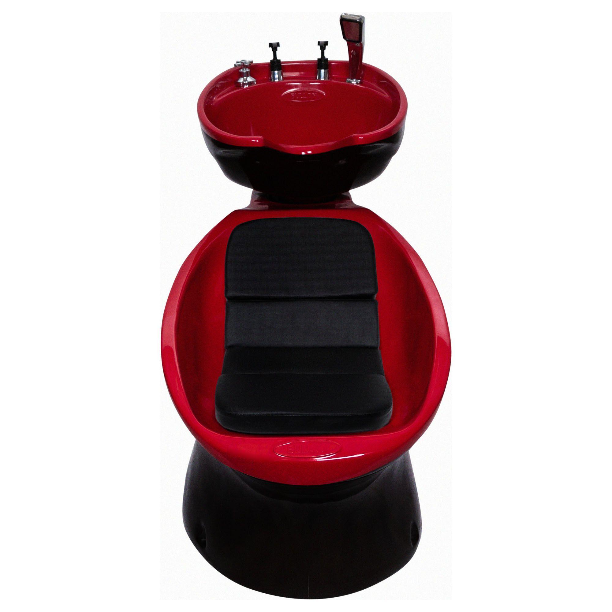 Lavatório Neon Shampoo Retro - Preto e Vermelho
