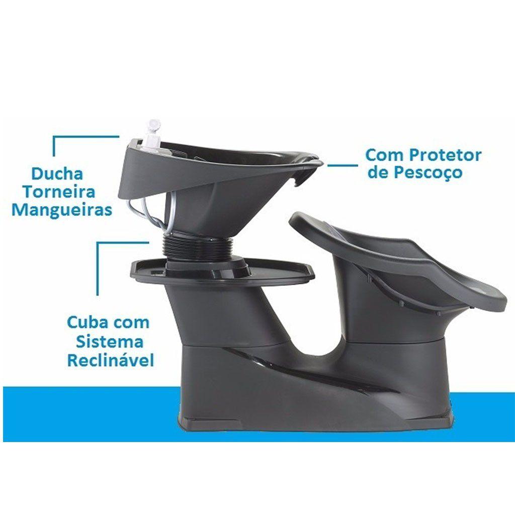 Lavatório Para Cabeleireiro Com Cuba Reclinável Freedom Dompel