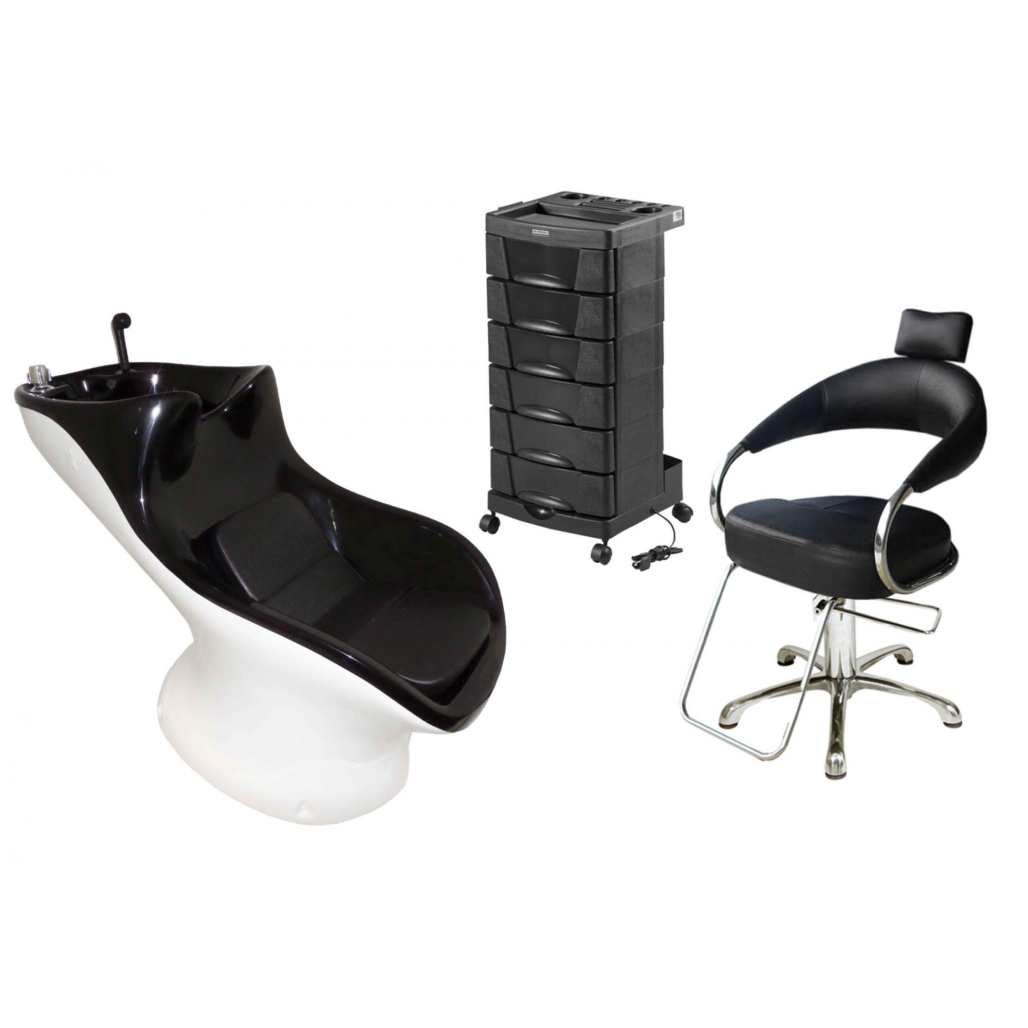 Lavatório Star Italiano + Cadeira Hidráulica Futurama + Beauty