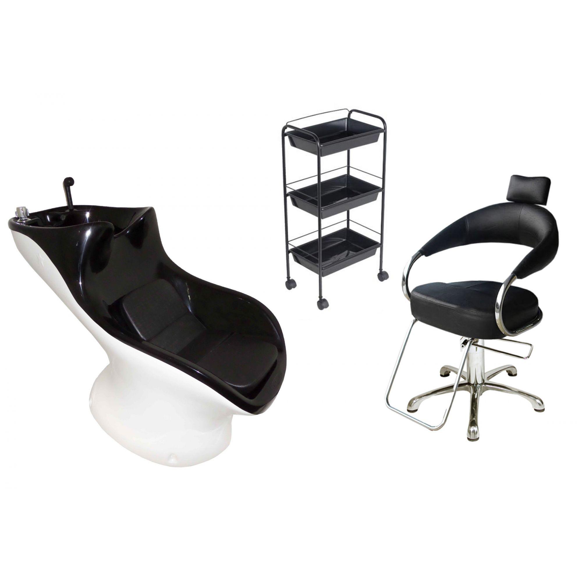 Lavatório Star Italiano + Cadeira Hidráulica Futurama + CG3