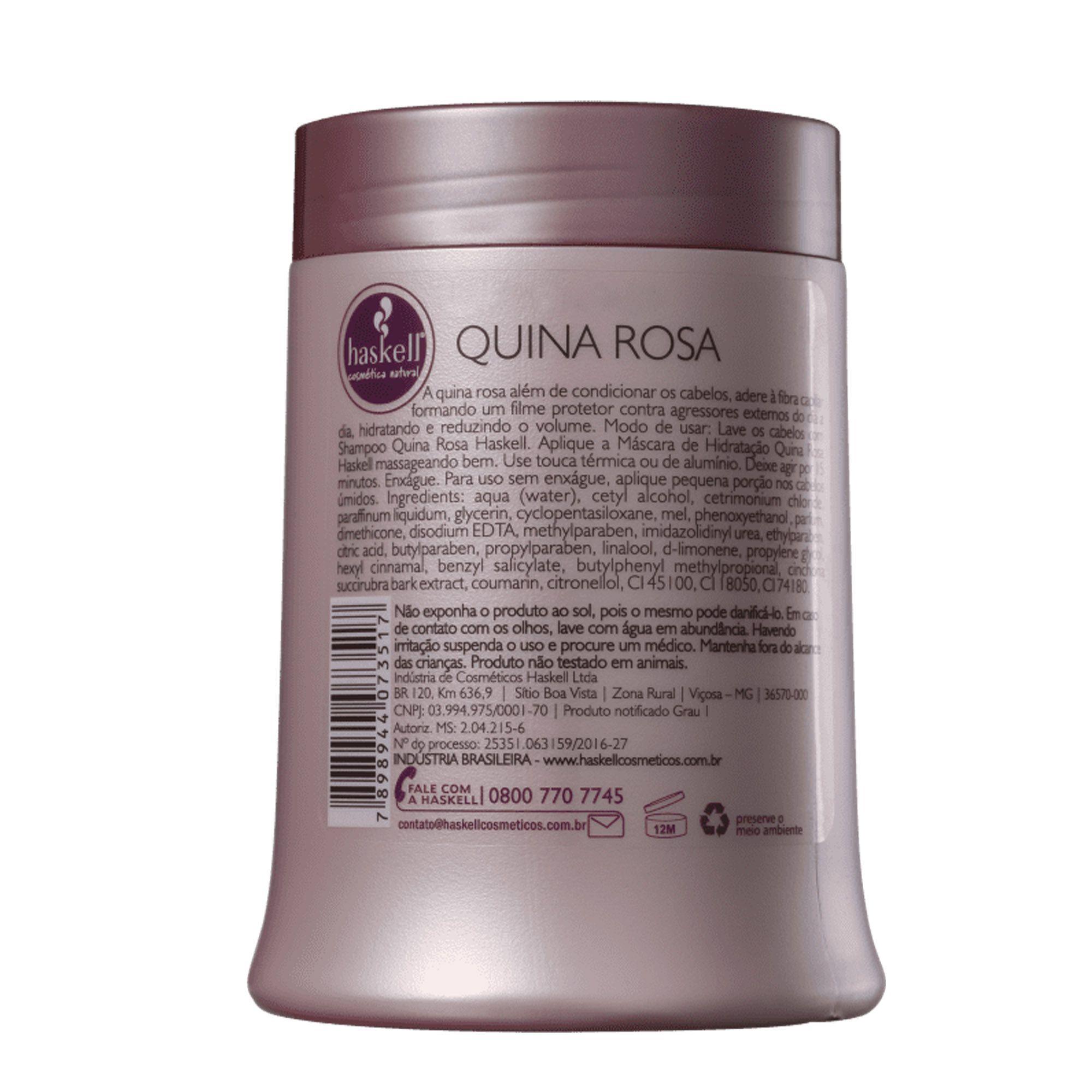 Máscara Quina Rosa 500g - Haskell
