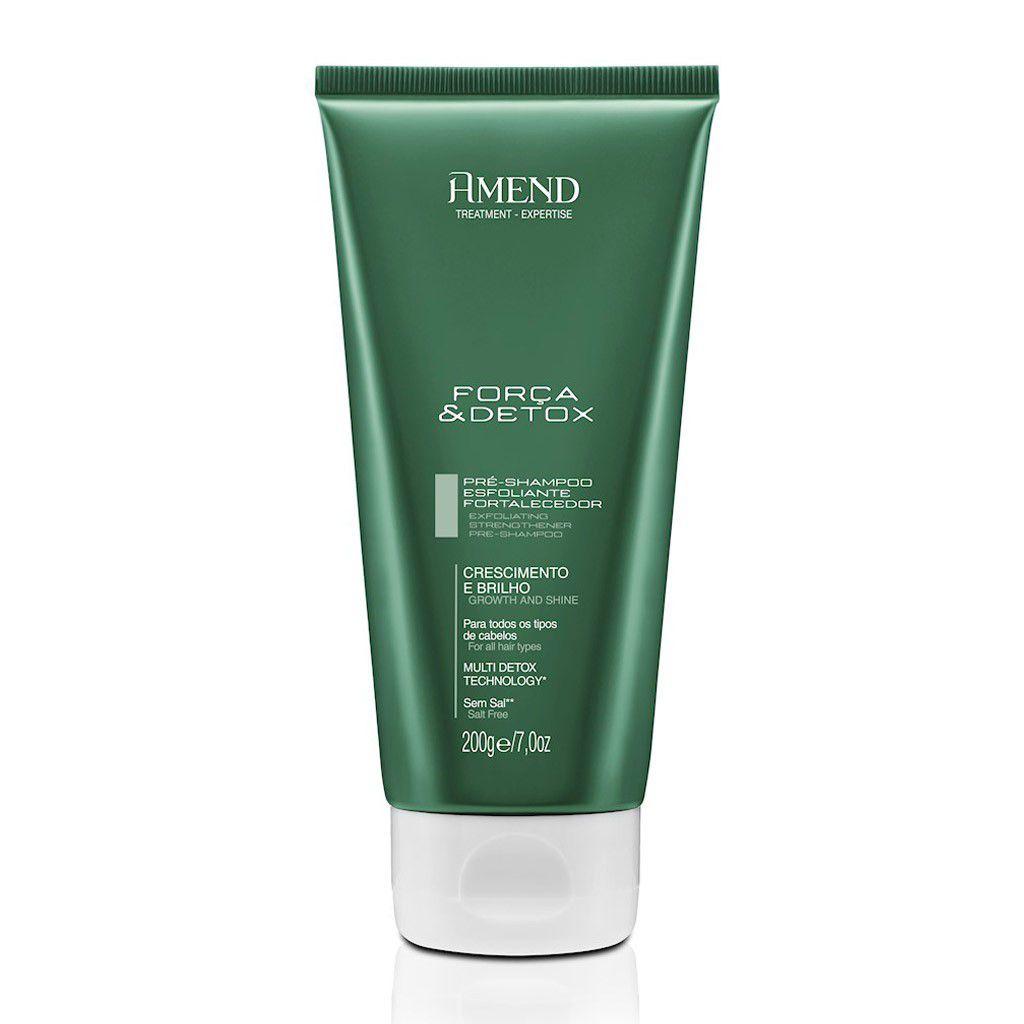 Amend Pré Shampoo Esfoliante Fortalecedor Força & Detox 200g