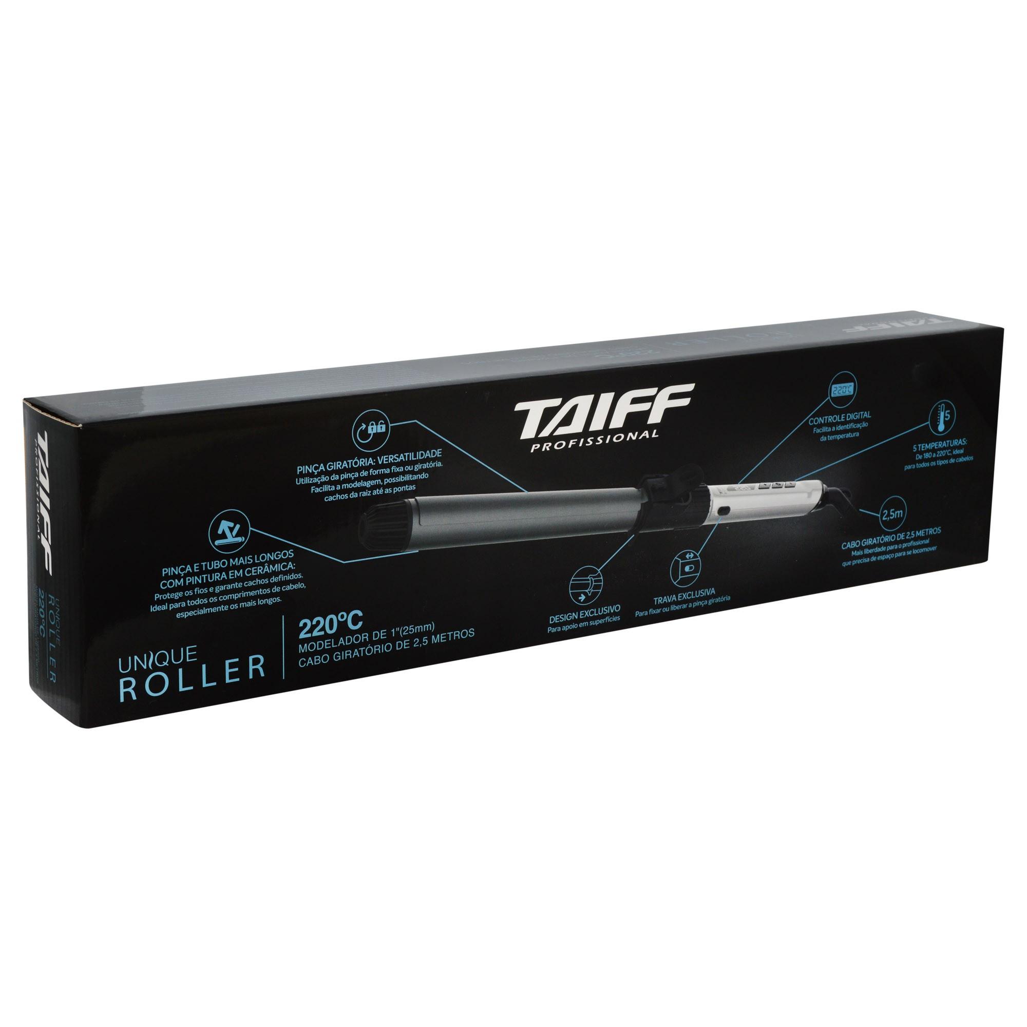 Modelador Cachos Unique Roller 220ºc 25mm - Taiff