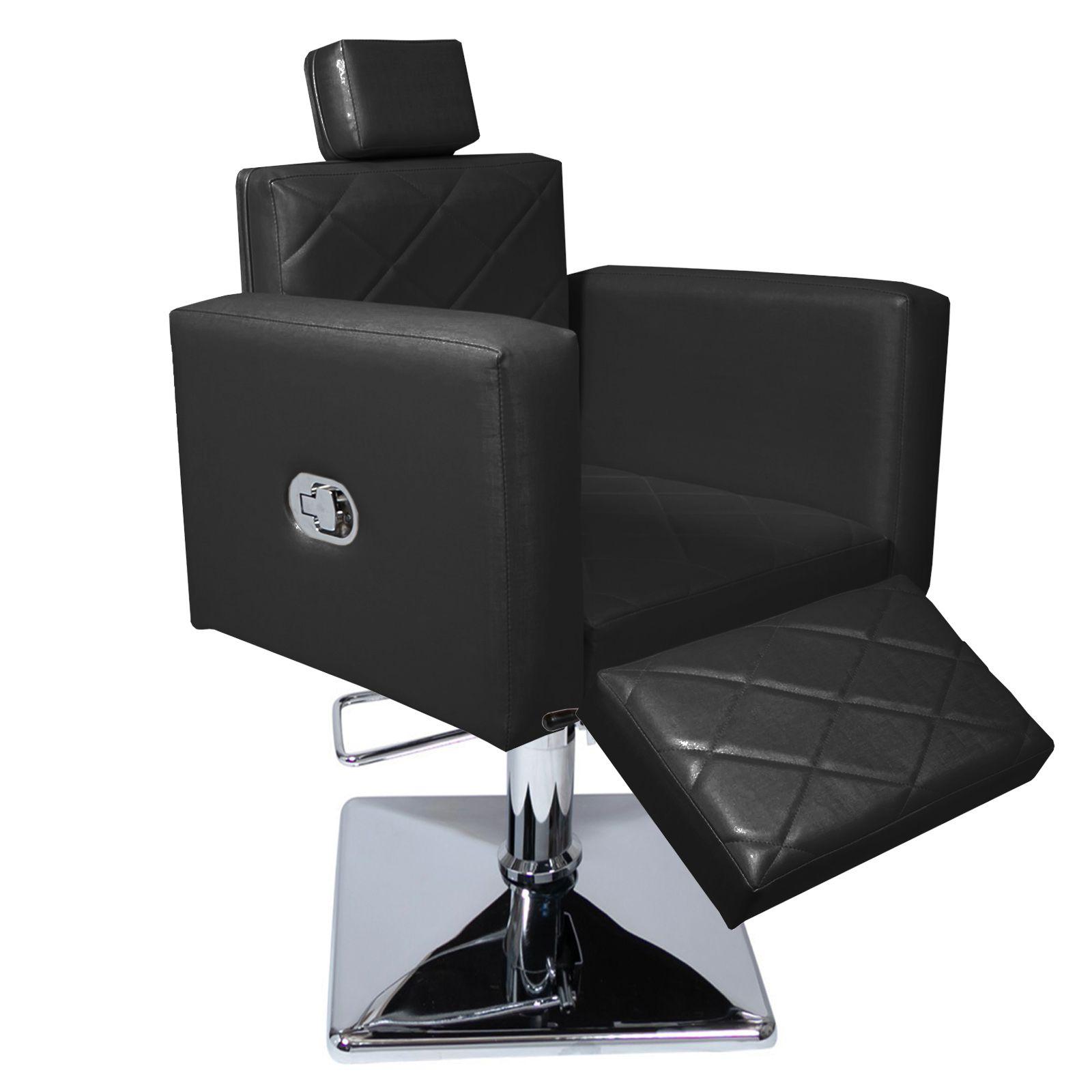 Poltrona Cadeira Evidence Reclínavel Base Quadrada Com Descanso de Perna