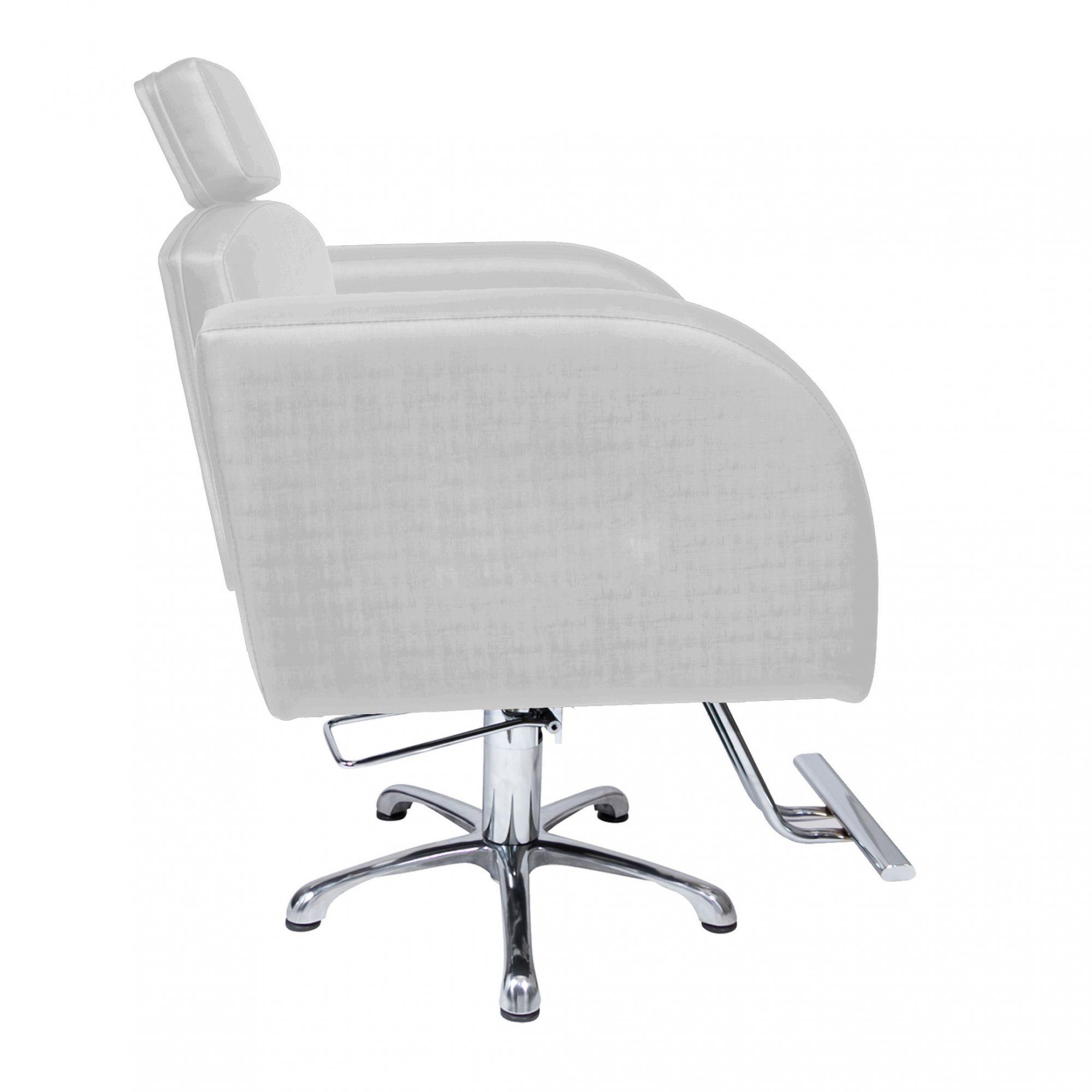 Poltrona Cadeira Hidráulica Destak Fixa Para Salão Prata Factor