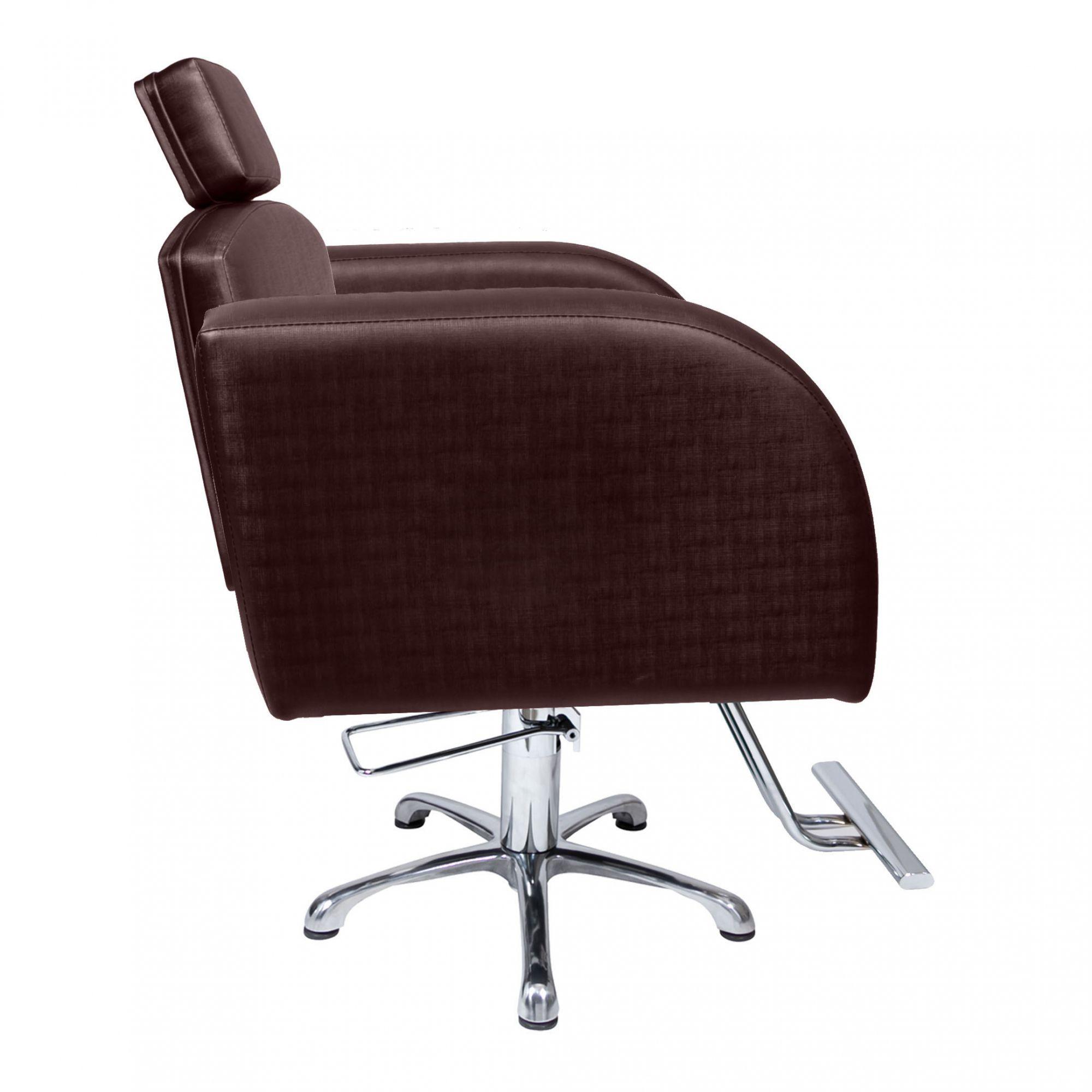 Poltrona Cadeira Hidráulica Destak Fixa Para Salão Café Factor