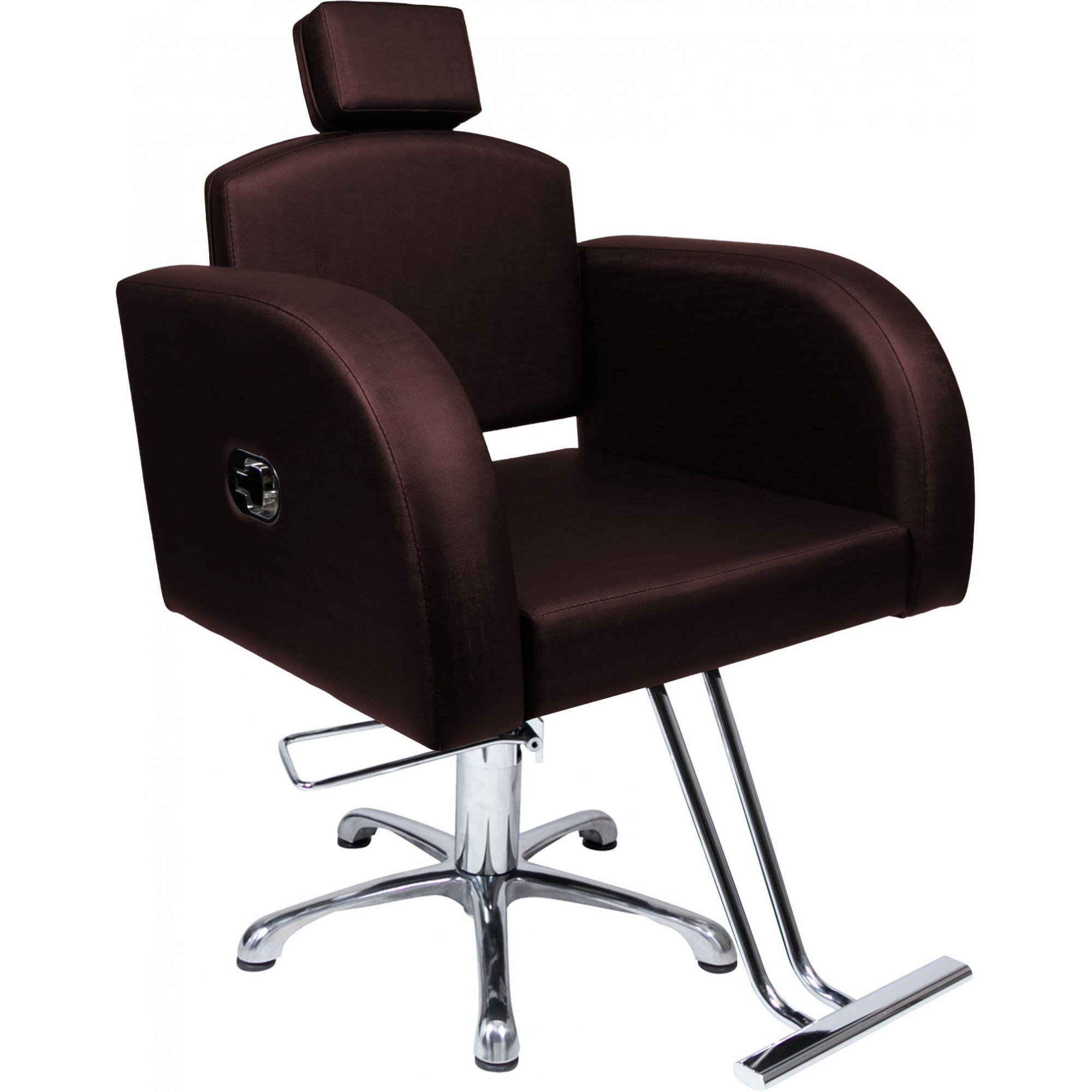 Poltrona Cadeira Hidráulica Destak Reclinável Para Salão Café Factor