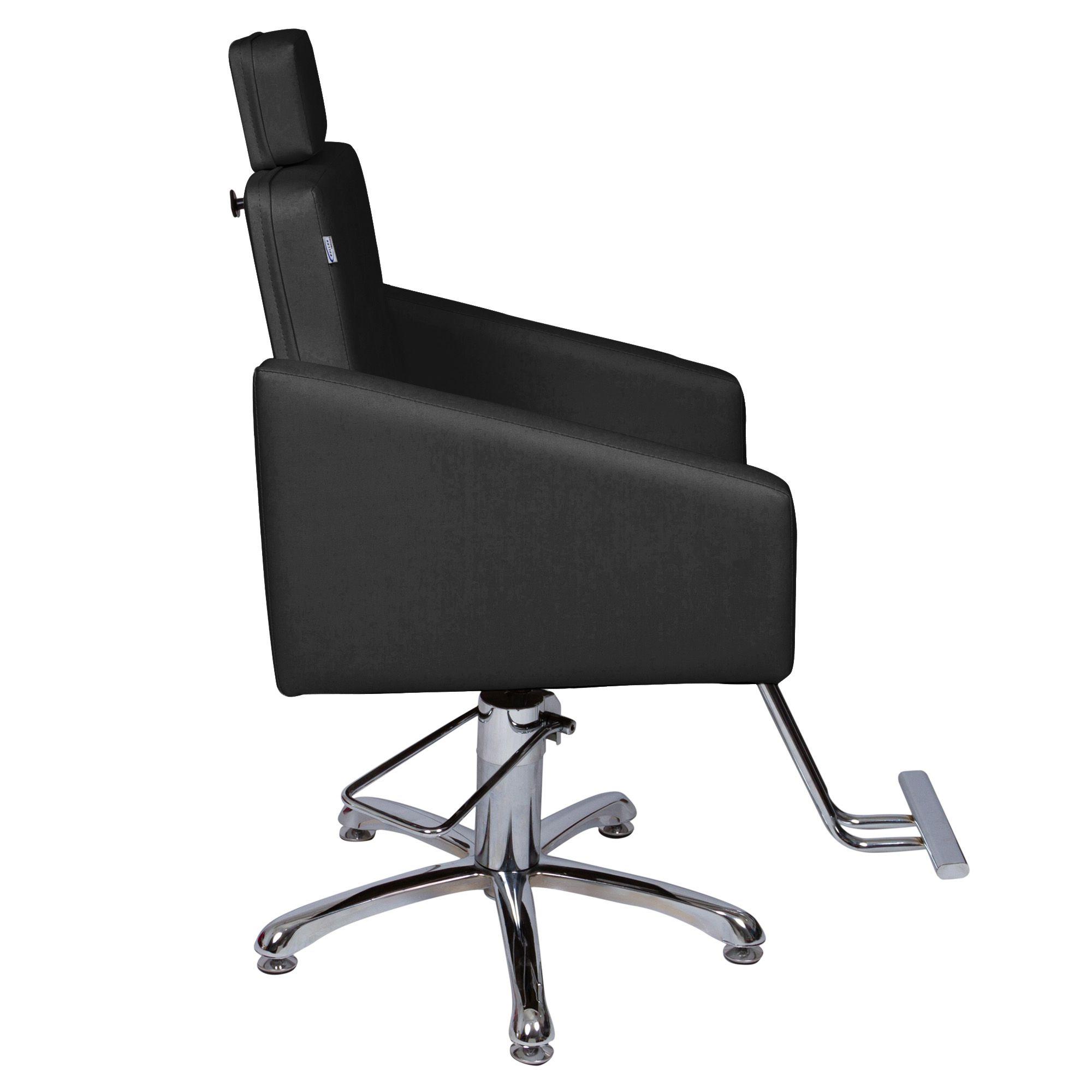 Poltrona Cadeira Hidráulica Diamante Fixa Para Salão