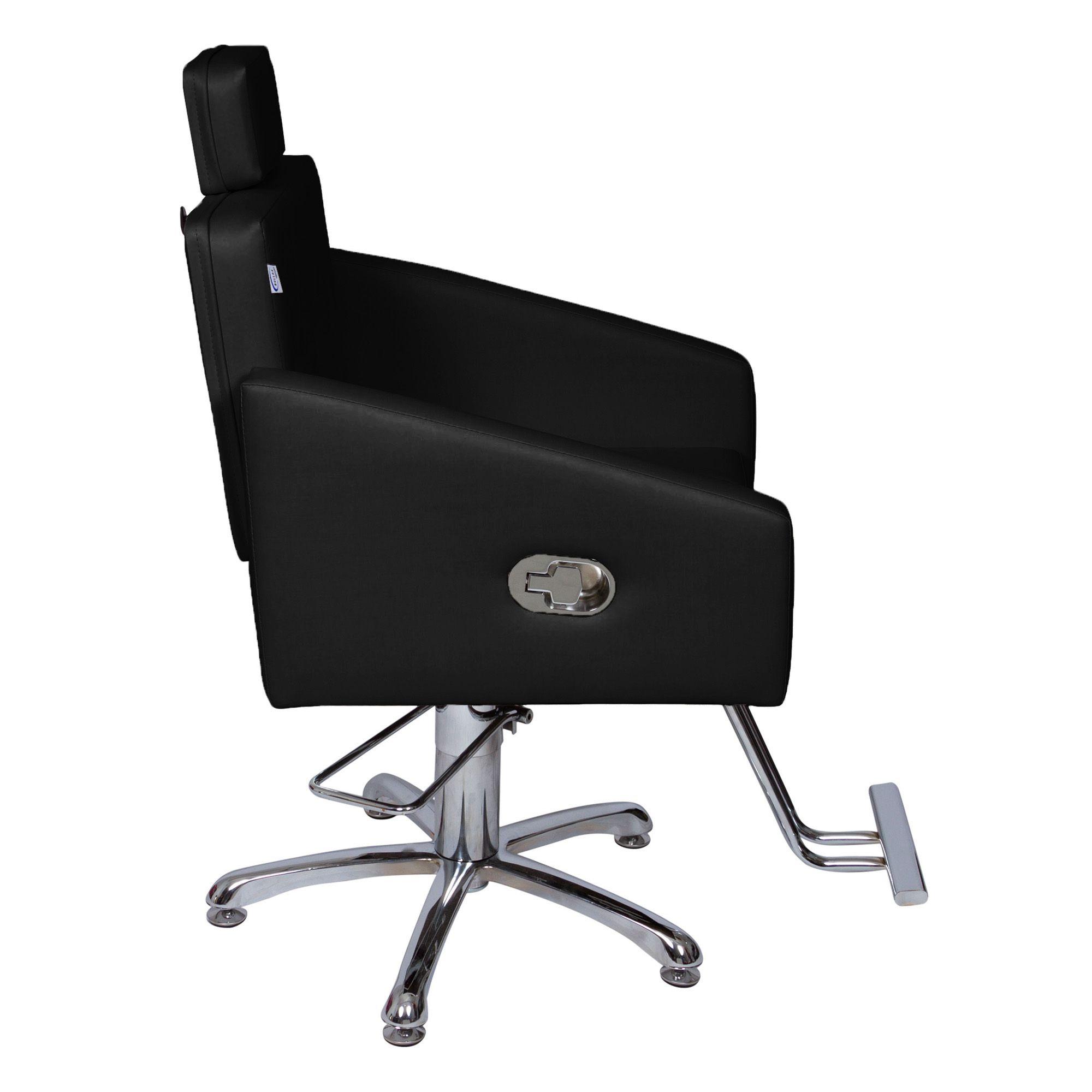 Poltrona Cadeira Hidráulica Diamante Reclinável Para Salão